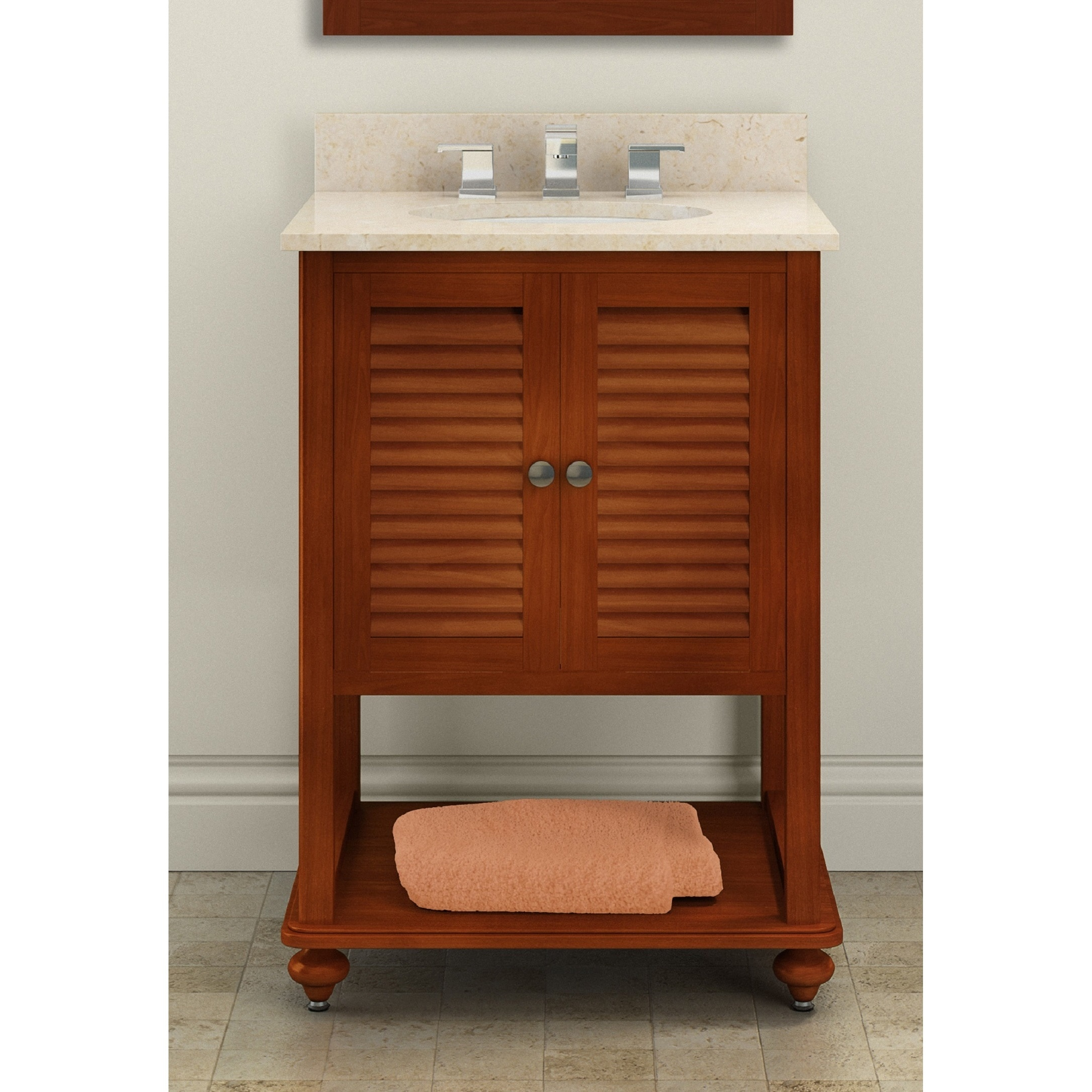Shop Alaterre Tahiti Chestnut 25-inch Single Sink Bath Vanity with ...