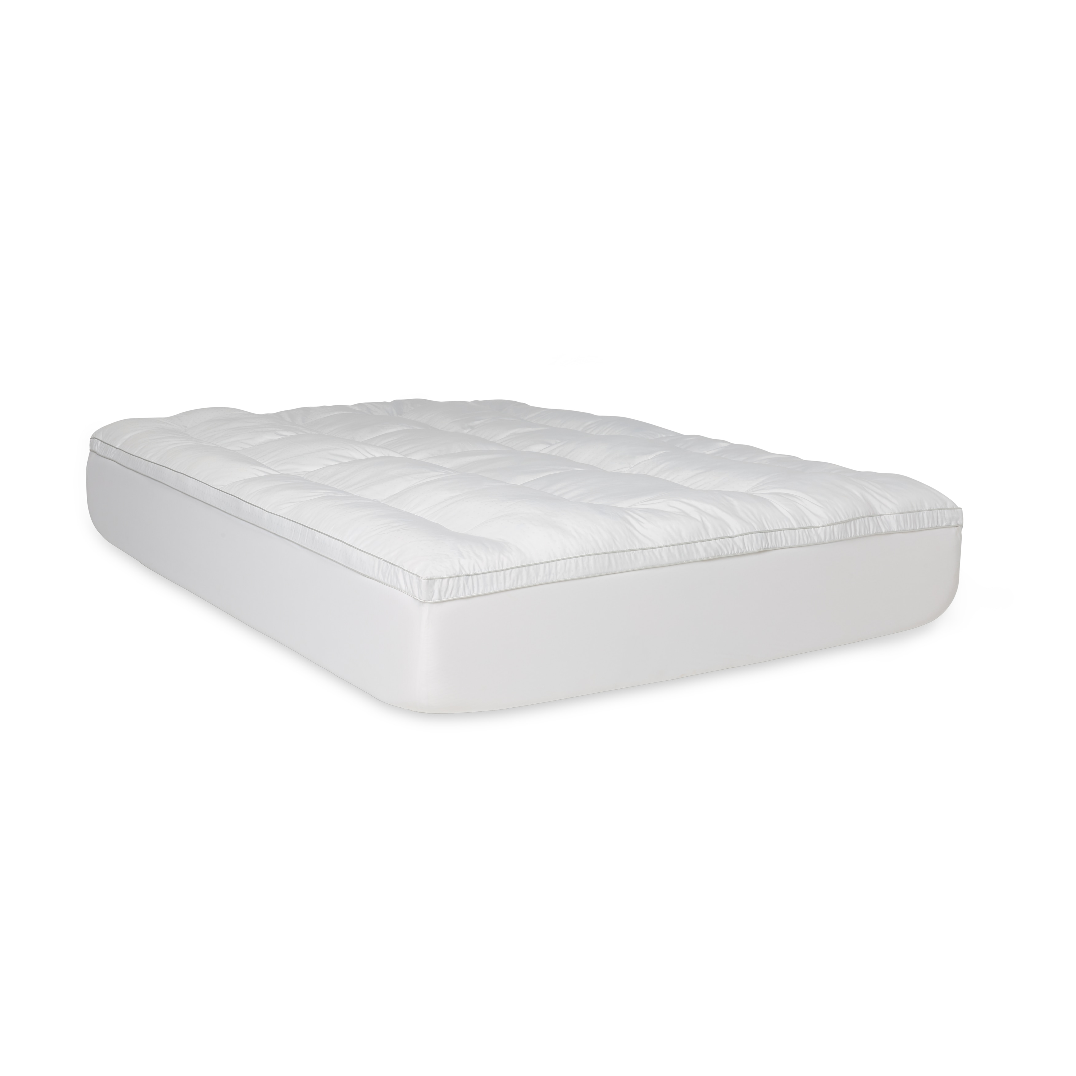 bedding down on orders overstock mattress alternative bed topper fiber product free shipping over cheer collection bath