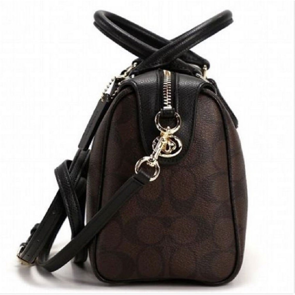 71f29aba2d ... australia shop coach f36702 mini bennett signature brown black satchel  free shipping today overstock 13142158 5d37e