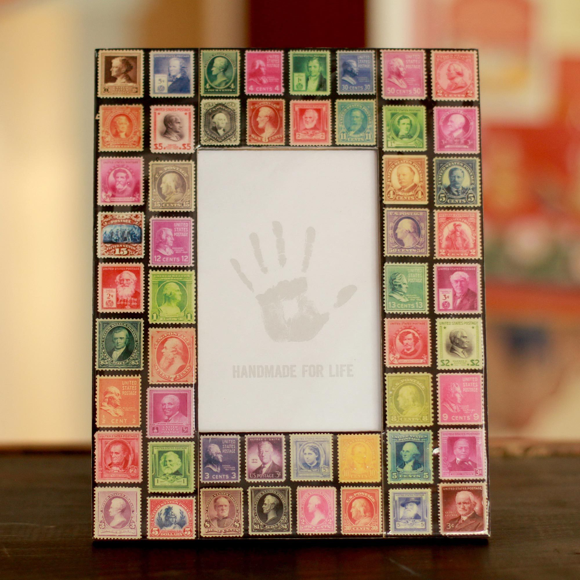 Shop Handmade Decoupage \'Stamp Collector\' Photo Frame (4x6) (India ...