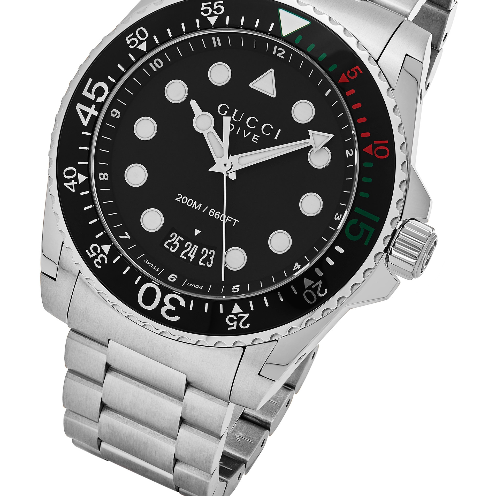 97e633102db Shop Gucci Men s YA136208  Dive XL  Stainless Steel Watch - Free Shipping  Today - Overstock - 13150376