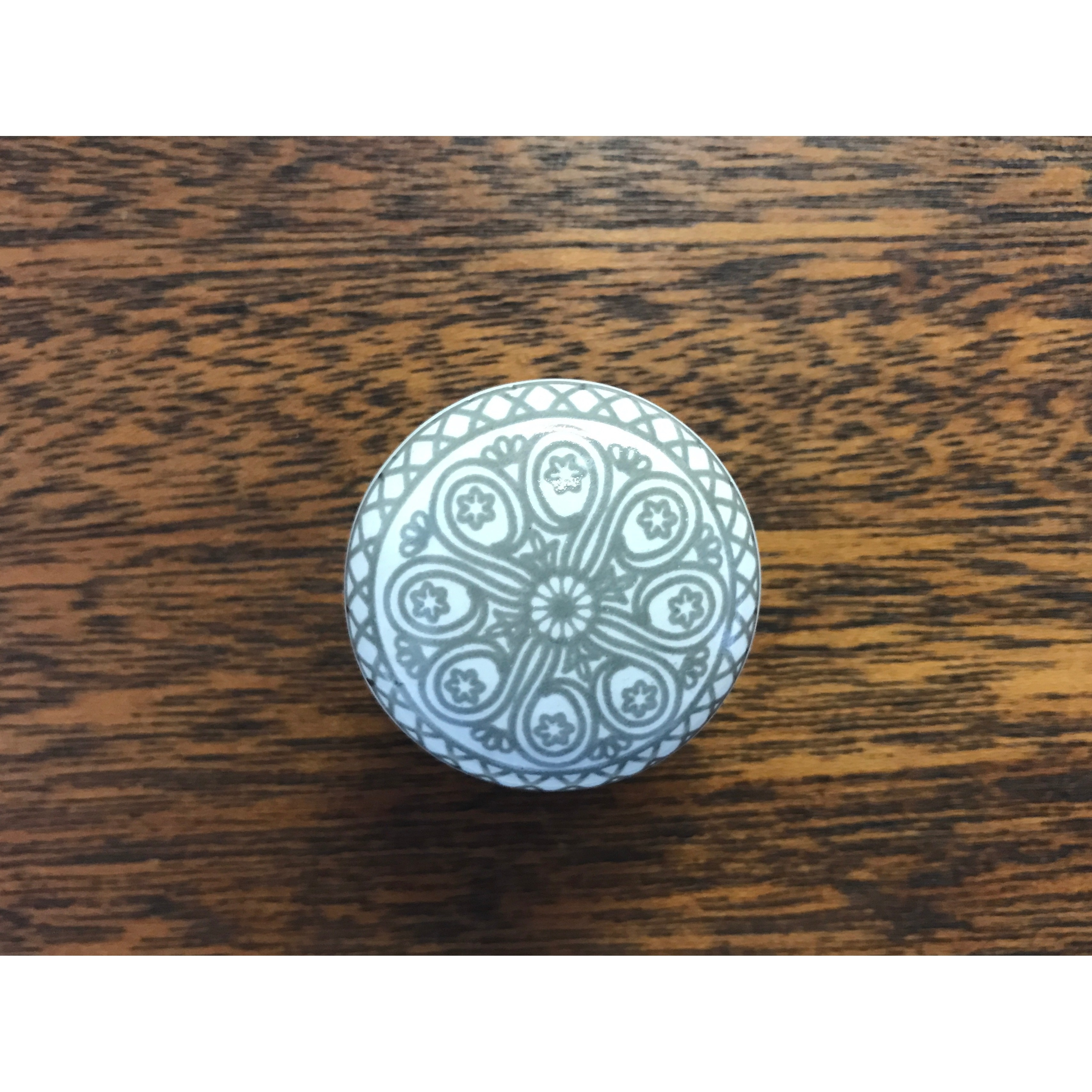 Grey Wheel Ceramic Drawer Knob Pulls (Pack of 6) - Free Shipping On ...