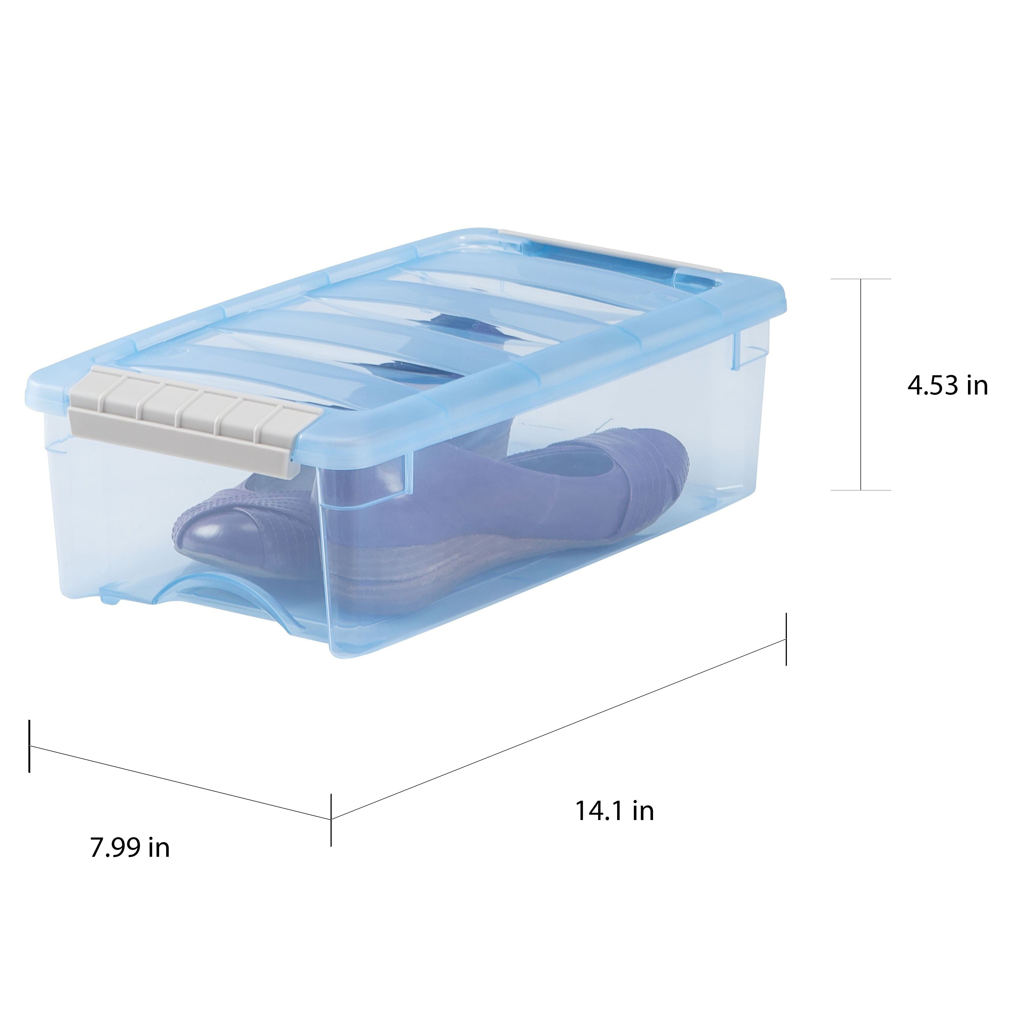 Shop IRIS 5 qt. Stack & Pull Plastic Storage Bin (Pack of 10) - Free ...