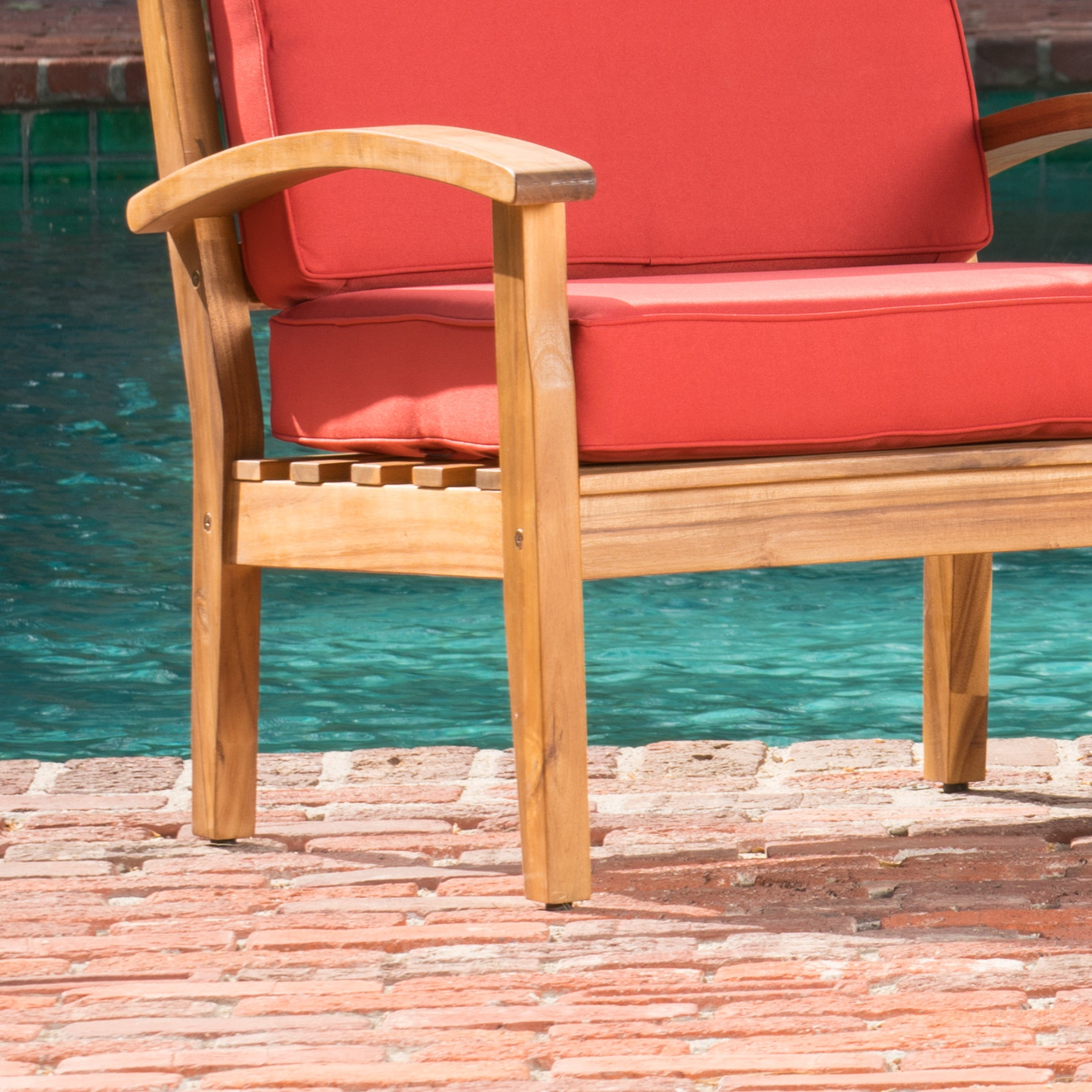 Shop Peyton Outdoor Wooden Club Chair (Set Of 4) By Christopher Knight Home    On Sale   Free Shipping Today   Overstock.com   13160211