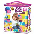 Amloid Kids at Work 82 Piece Girls Tote of Blocks