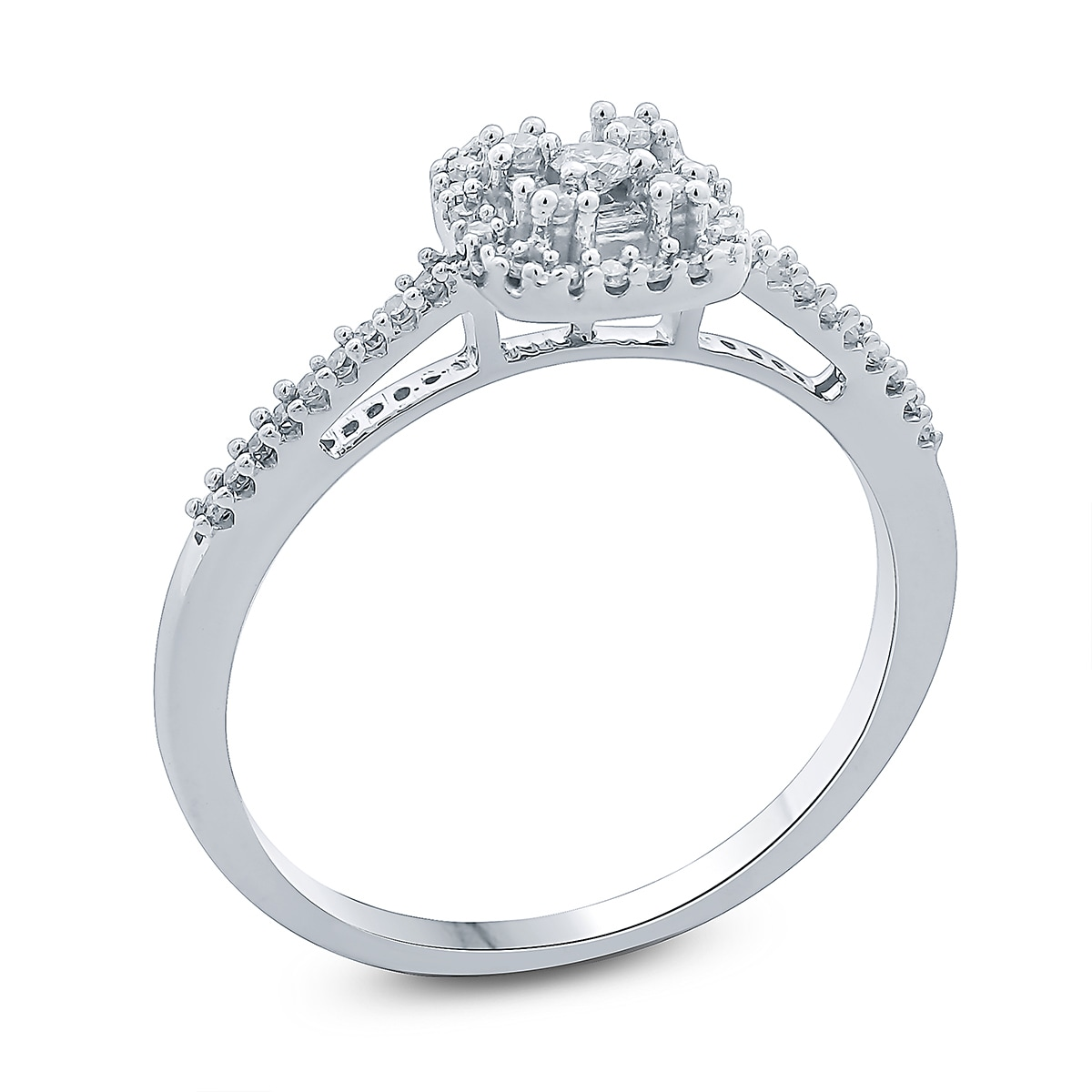 by diamond solitaire square rings tapered round wedding london halo two ring engagement
