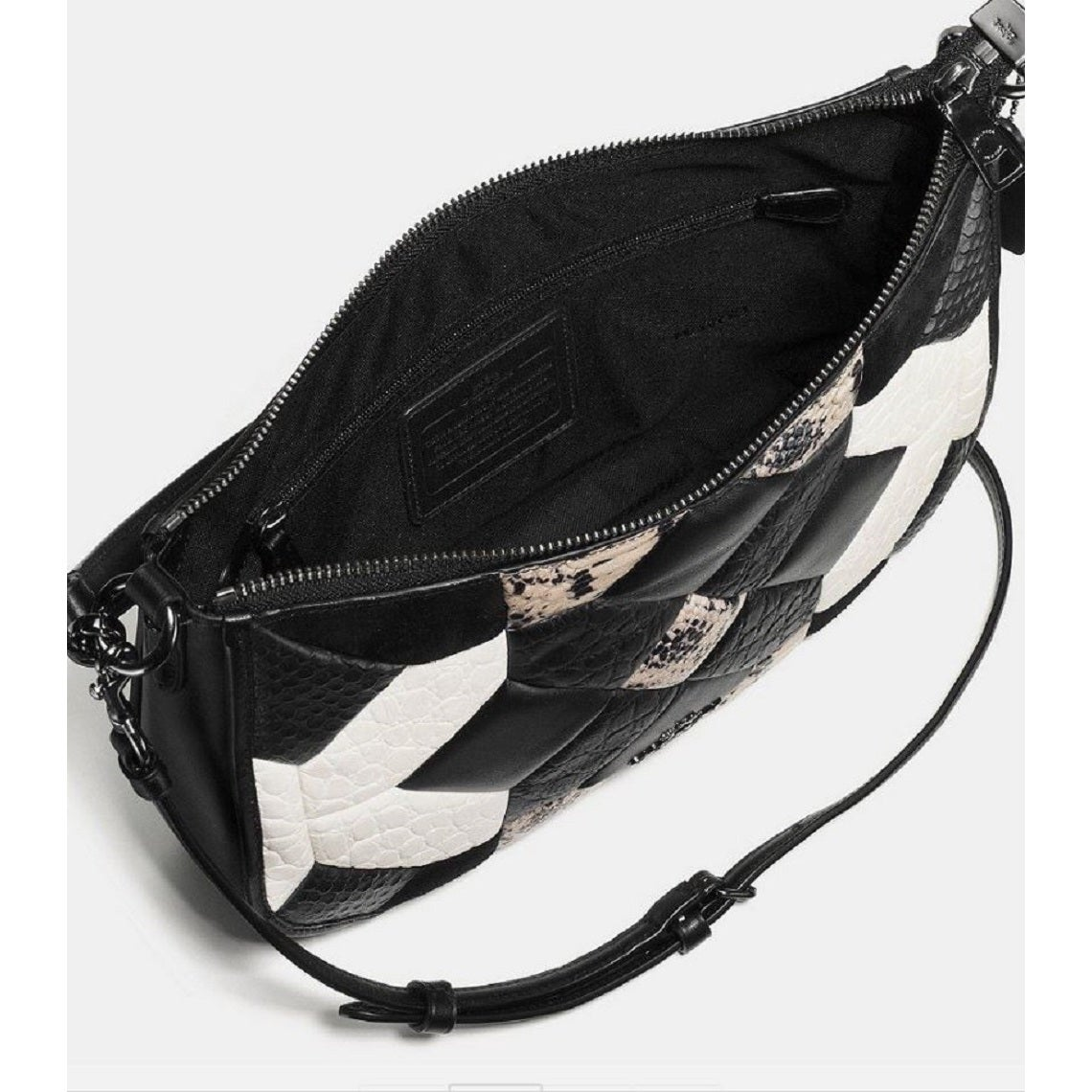 12c0fcc226cc Shop Coach Black Canyon Quilt Chelsea Exotic Leather Crossbody Bag Purse -  Free Shipping Today - Overstock - 13169551