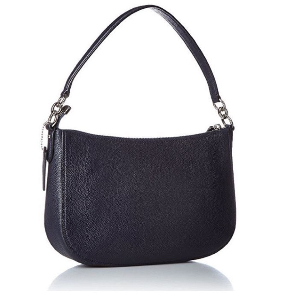 122d0f064d Shop Coach Women s Floral Rivets Chelsea Navy Pebbled Leather Crossbody Bag  - On Sale - Free Shipping Today - Overstock - 13169592
