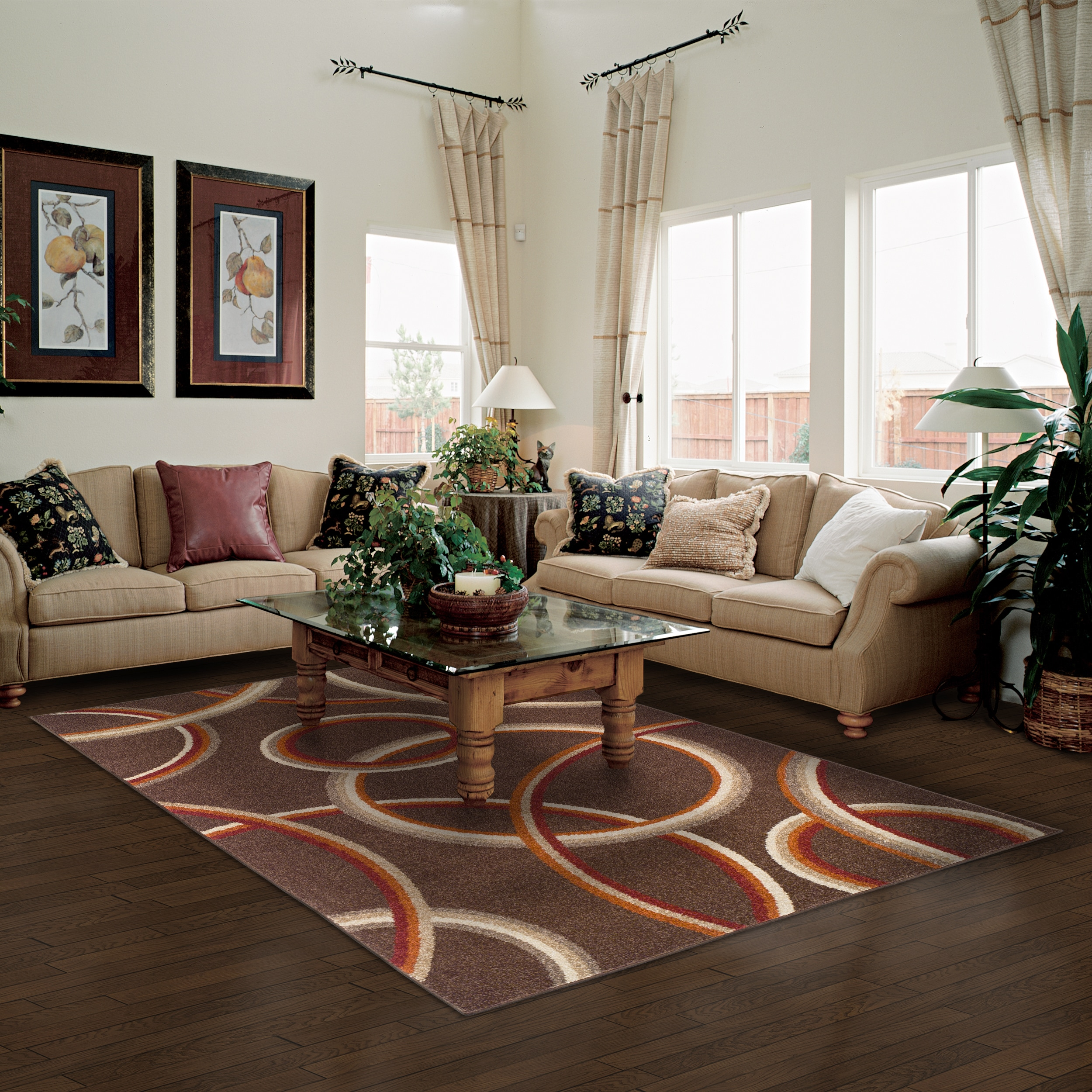 Shop superior modern meridian brown area rug 5 x 8 5 x 8 free shipping today overstock com 13176912