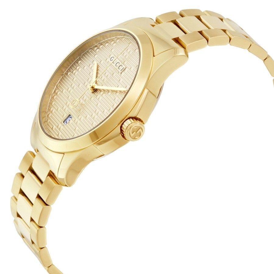 234b0acfe7d Shop Gucci Unisex YA126461  G-Timeless  Gold-Tone Stainless Steel Watch -  Free Shipping Today - Overstock - 13176951