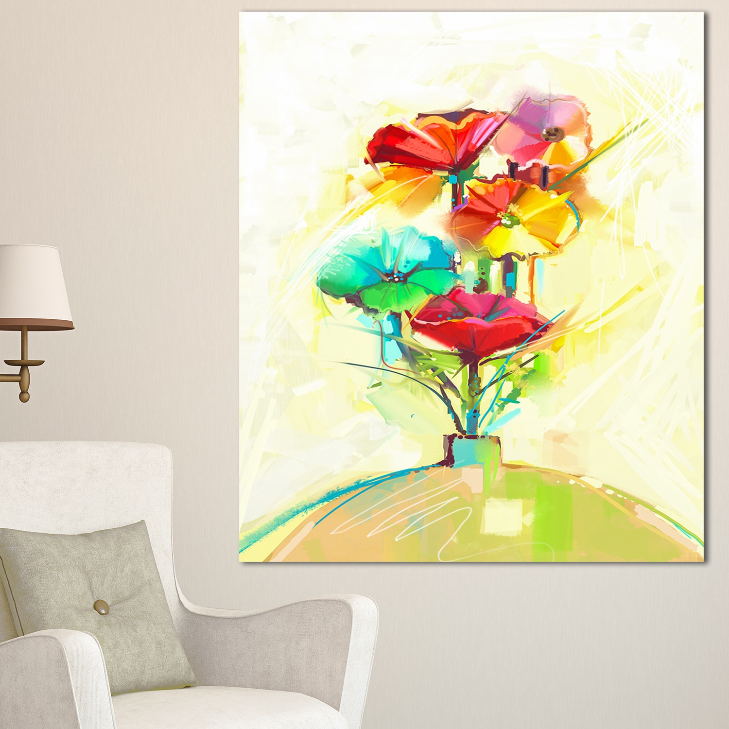 Outstanding Floral Wall Art Canvas Image Collection - The Wall Art ...
