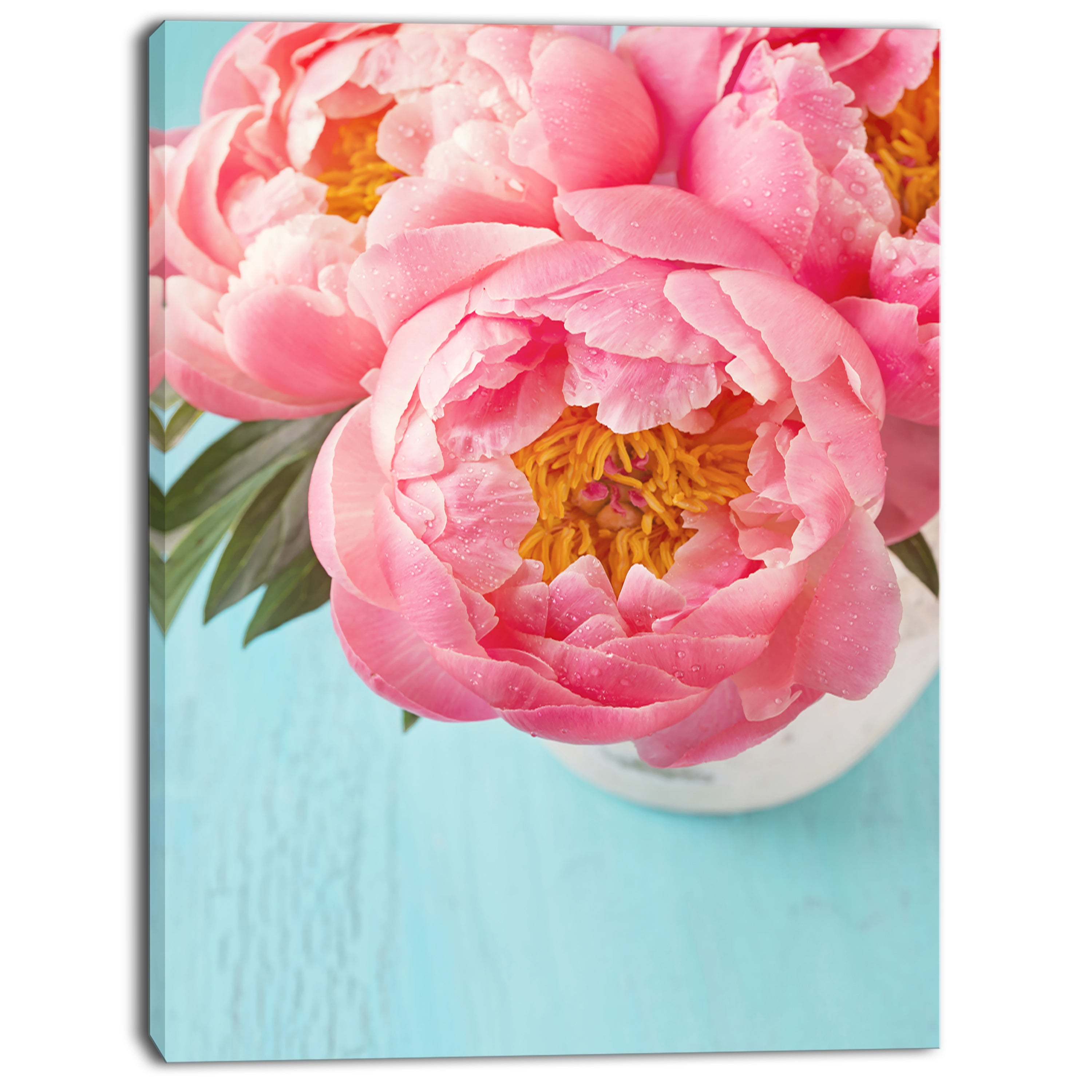 Shop Designart Bunch Of Light Pink Peony Flowers Floral Canvas