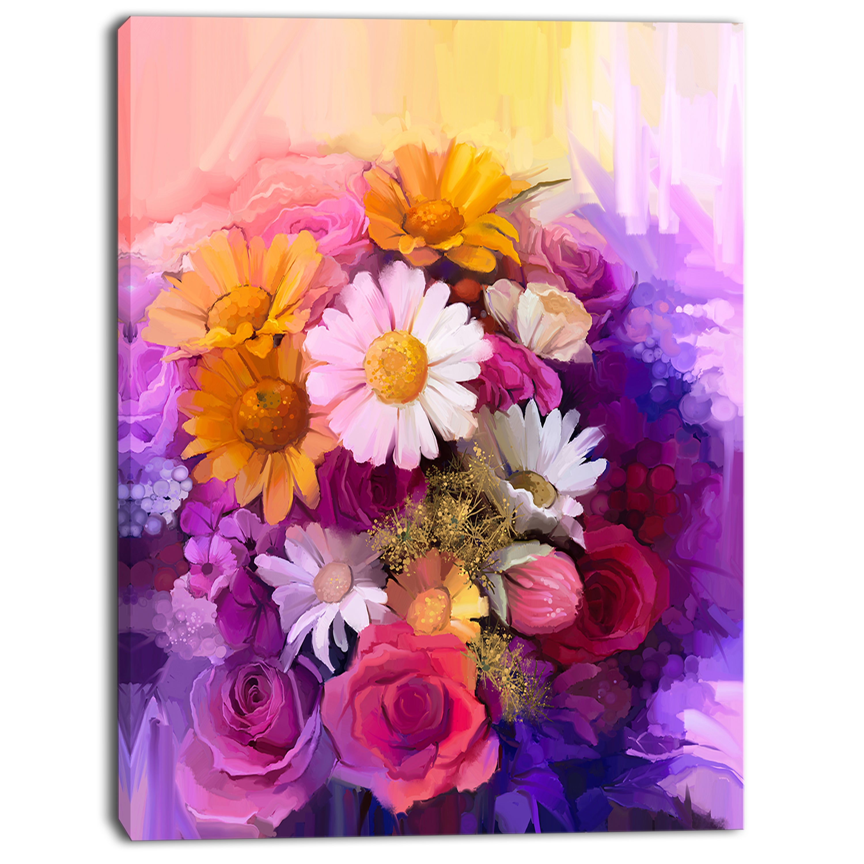 Designart colorful bouquet of different flowers flower canvas designart colorful bouquet of different flowers flower canvas print artwork purple free shipping on orders over 45 overstock 19900935 izmirmasajfo