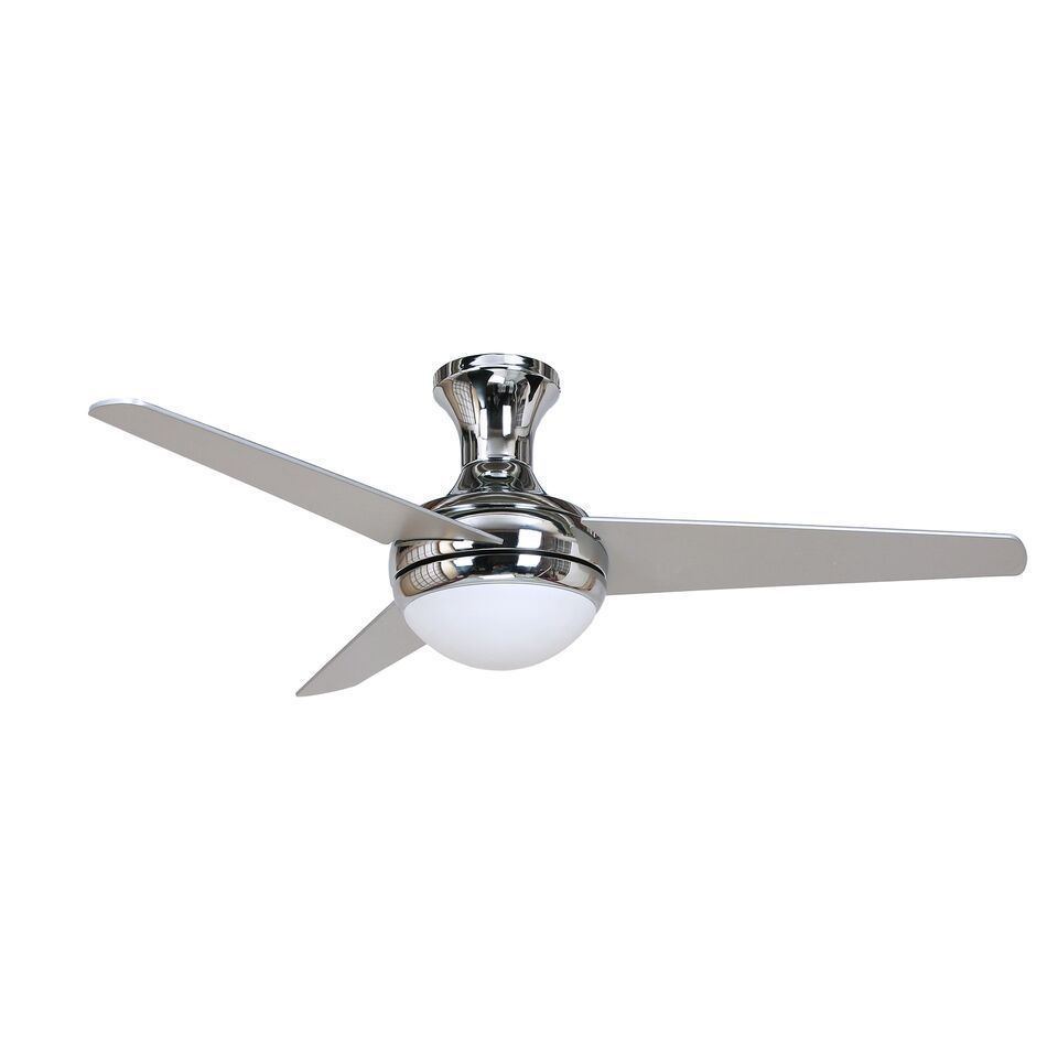 ydecor 'aislee' chrome ceiling fan with frosted alabaster light kit silver  free shipping today  overstockcom  . ydecor 'aislee' chrome ceiling fan with frosted alabaster light