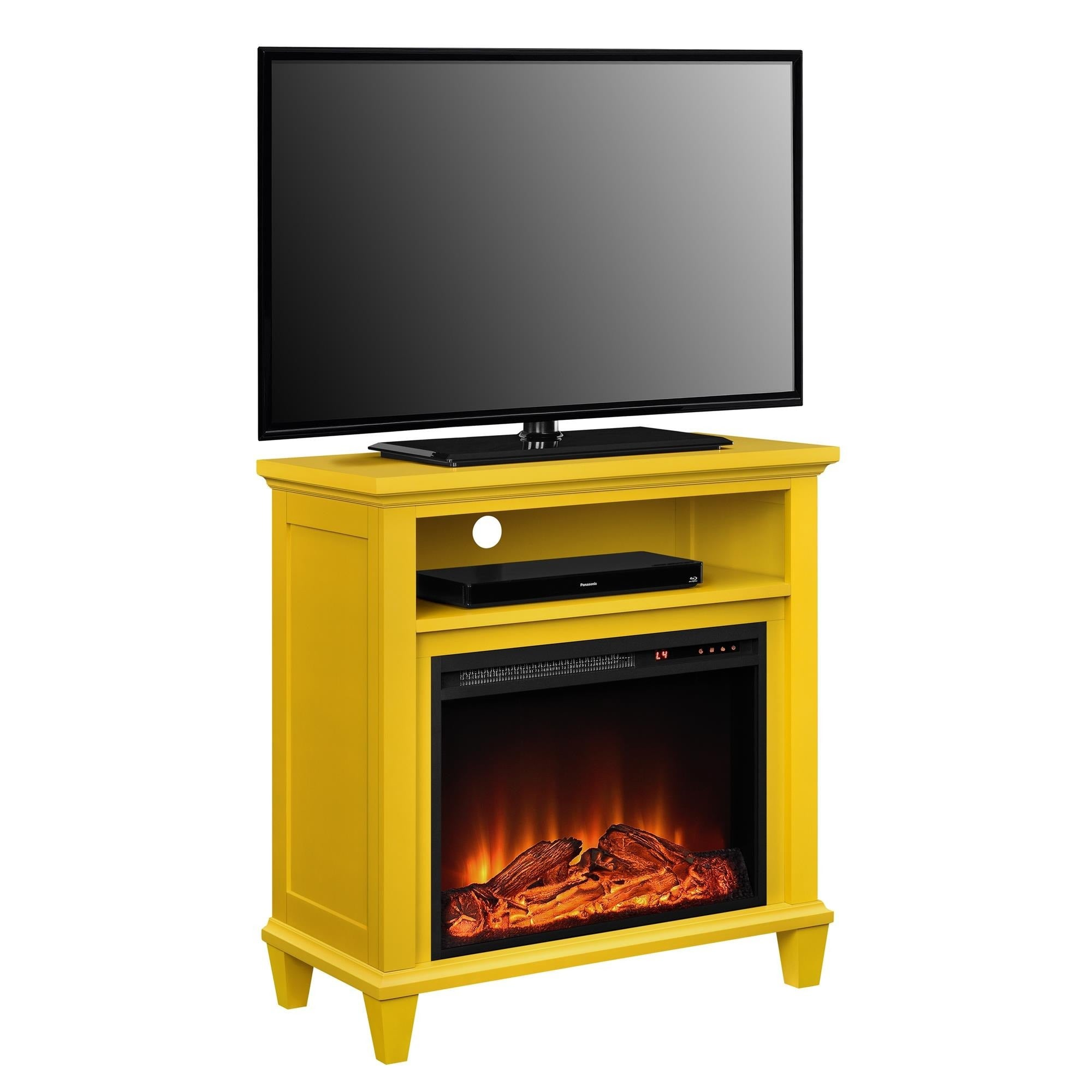 Ameriwood Home Ellington Electric Fireplace Accent Table 32-inch TV ...