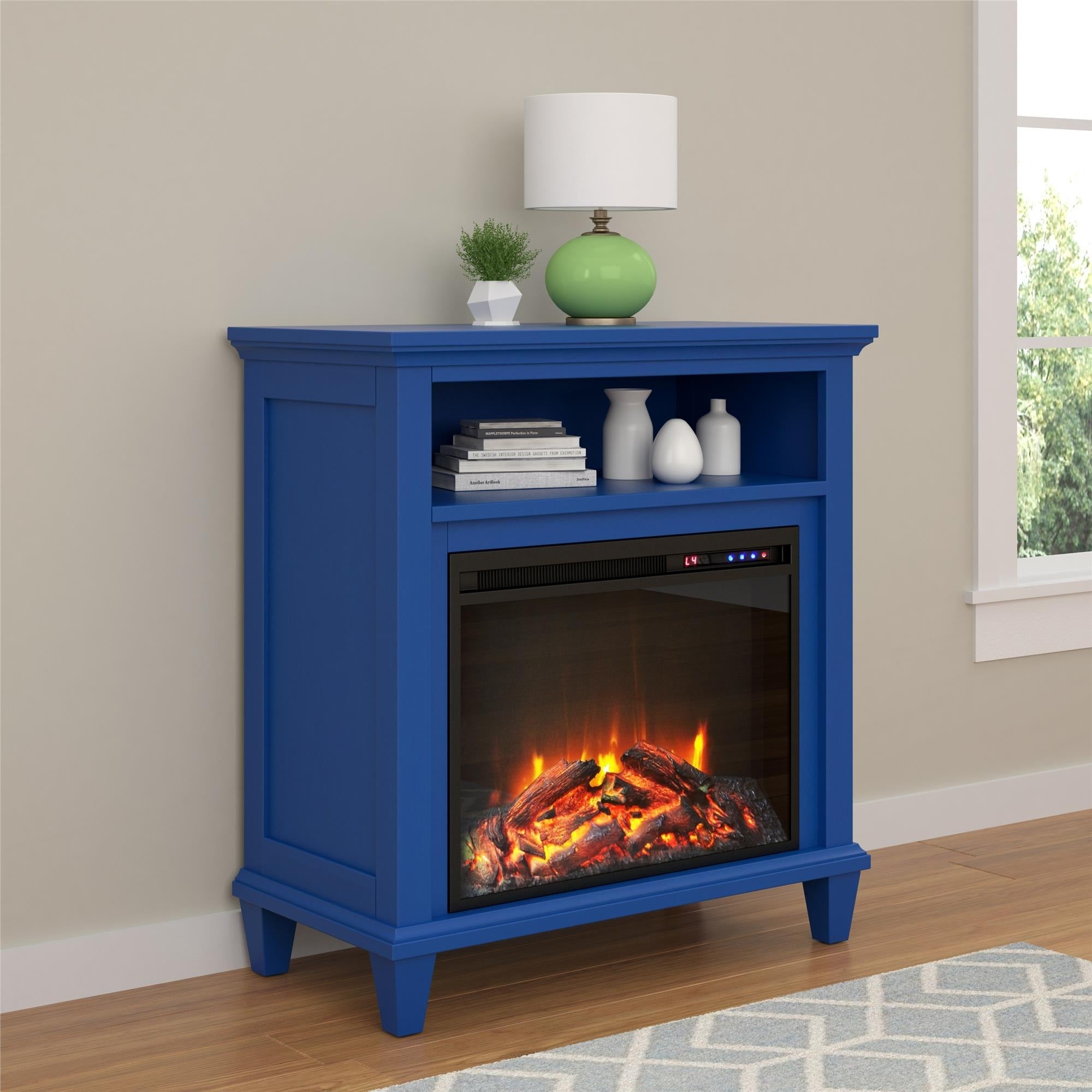 Shop Ameriwood Home Ellington Electric Fireplace Accent Table 32 Inch TV  Stand   Free Shipping Today   Overstock.com   13178354