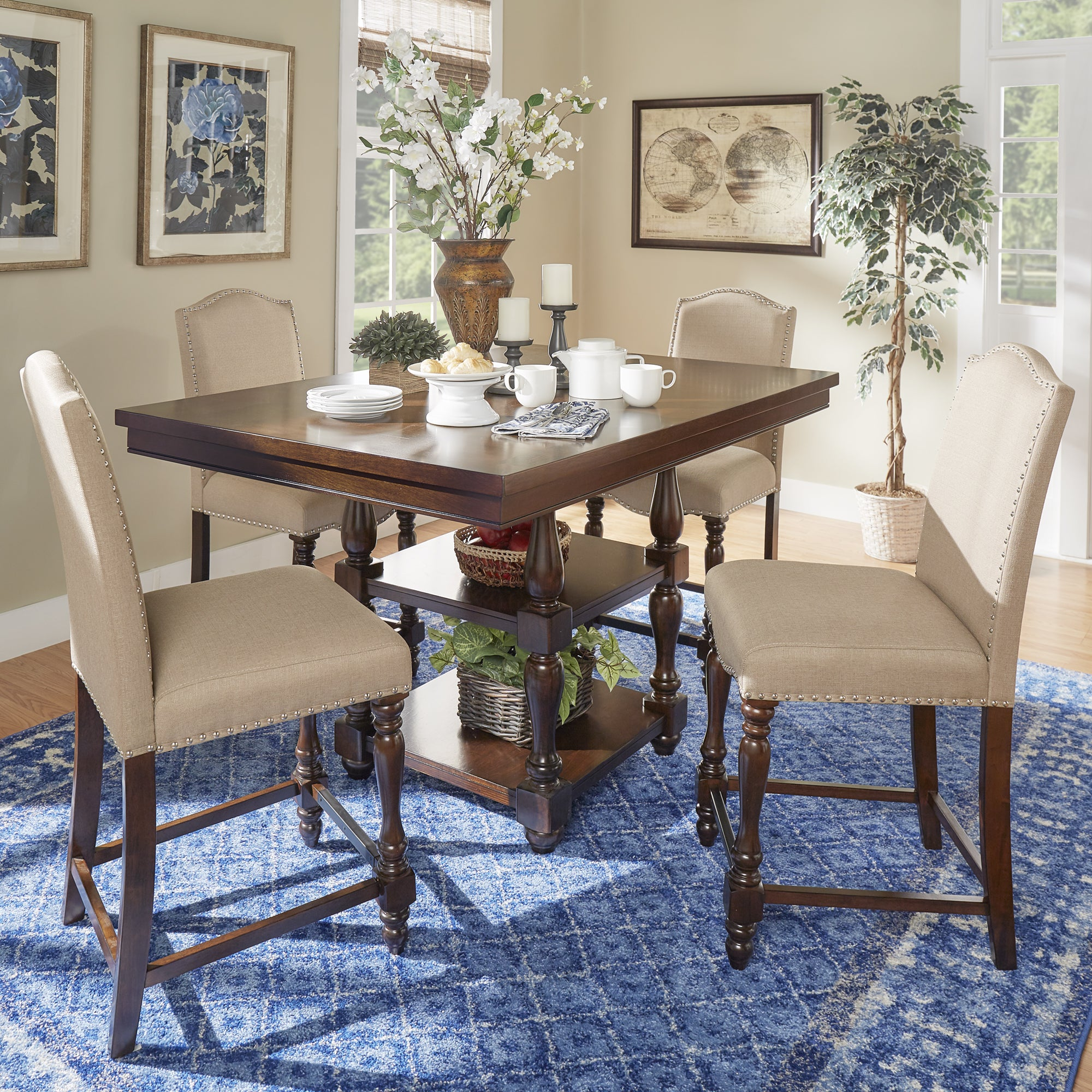 Parisian Rectangular Counter Height Dining Table By INSPIRE Q Classic    Free Shipping Today   Overstock.com   19902630