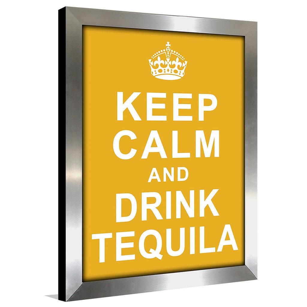 Shop Framed Canvas Art Studio Keep Calm and Drink Tequila Framed ...