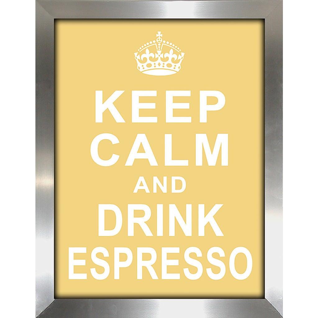 Framed Canvas Art Studio Keep Calm and Drink Espresso Framed ...