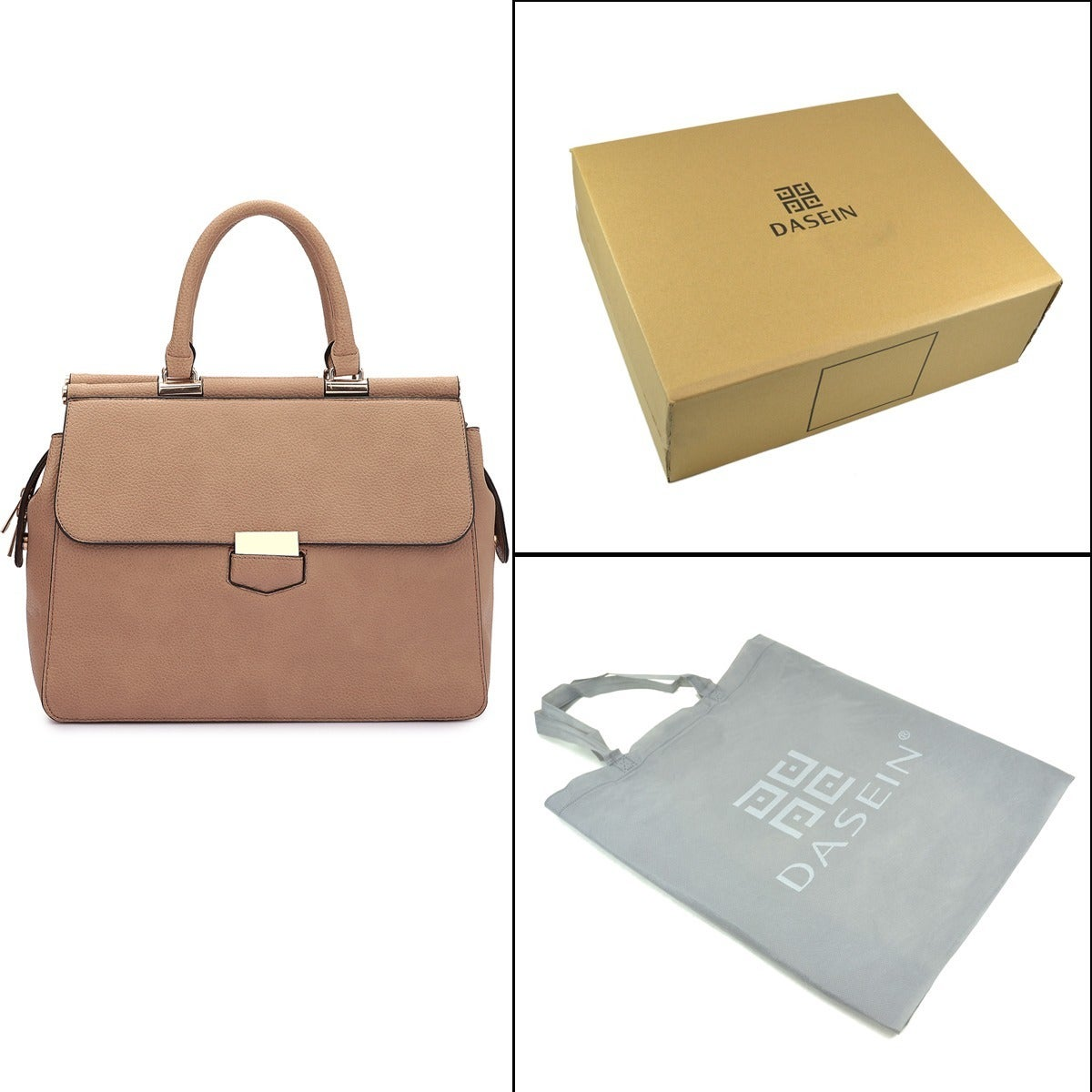 9a6fc53d300b Shop Dasein Expandable Side Zipper Briefcase Satchel Handbag - Free  Shipping Today - Overstock - 13180619