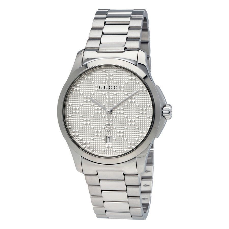 633d93495d3 Shop Gucci Unisex YA126459  G-Timeless  Stainless Steel Watch - silver -  Free Shipping Today - Overstock - 13180741