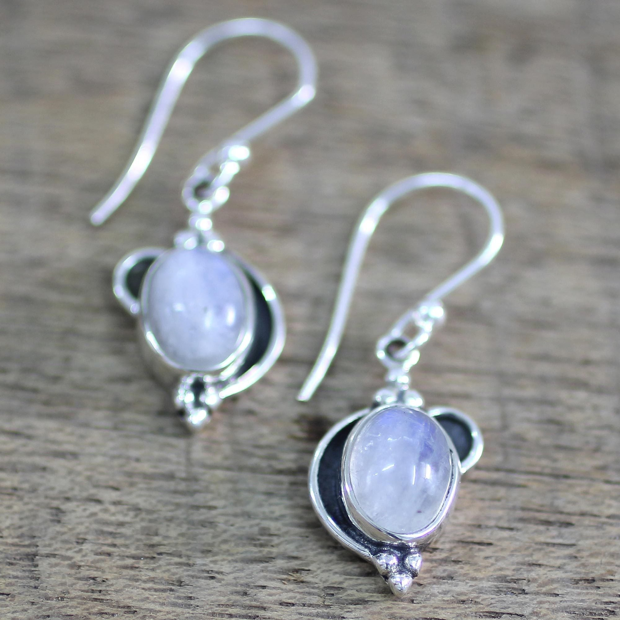 rmoon and body piercing product silver rainbow moonstone sterling earrings identity
