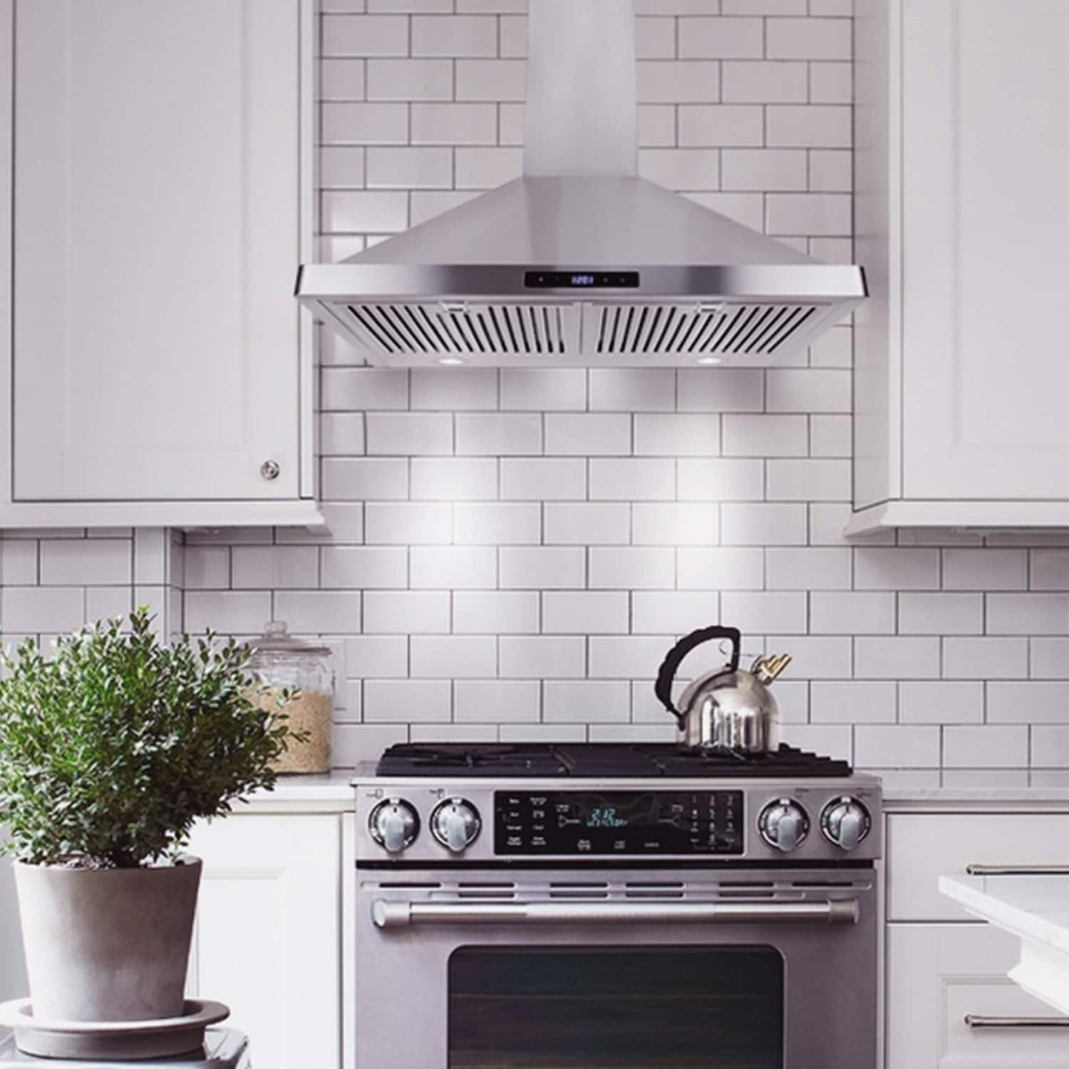 Cosmo 30 Inch Range Hood 760 CFM Ducted Wall Mount In Stainless Steel    STAINLESS STEEL   Free Shipping Today   Overstock   19910733