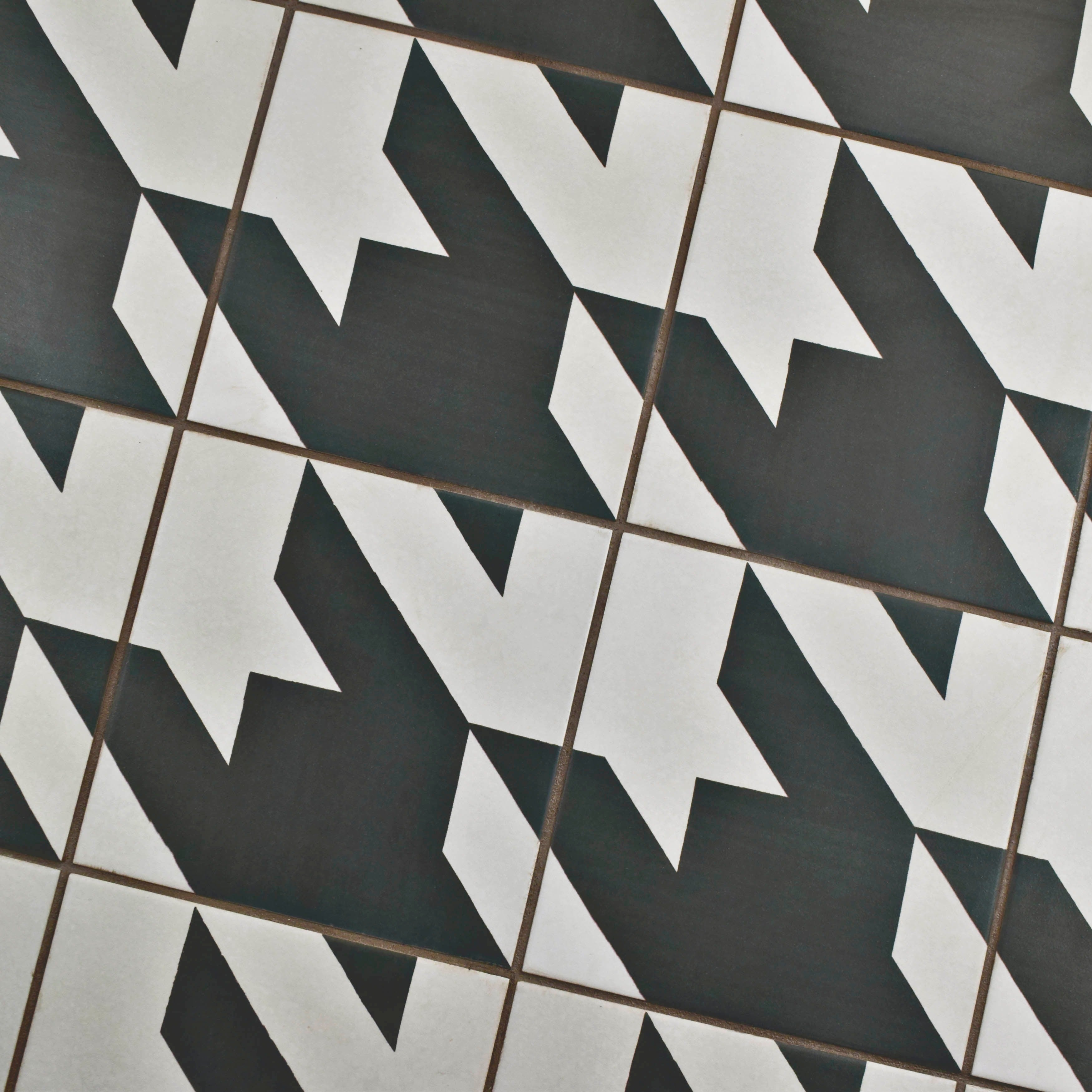 Somertile 7 875x7 875 Inch Piccola Black And White Tweed Porcelain Floor Wall Tile 25 Tiles 11 46 Sqft Ships To Canada Ca