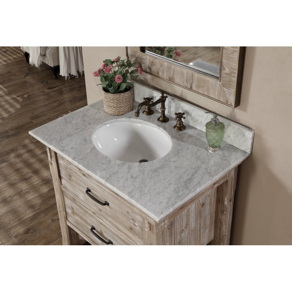 Infurniture Rustic Style 30 Inch Single Sink Bathroom Vanity Free Shipping Today 13189378