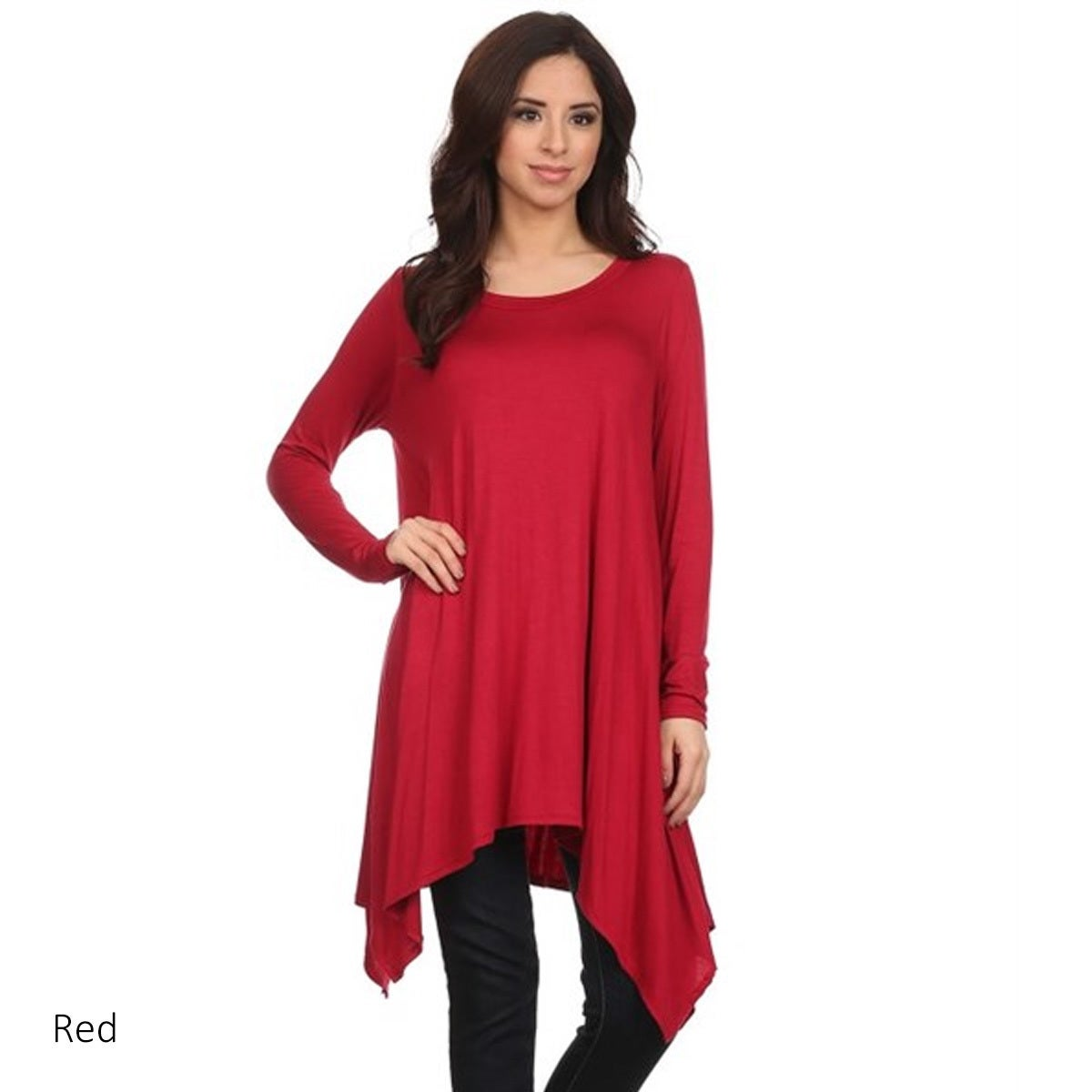 6aaab3823e5 Shop Women's Solid Color Polyester and Spandex Oversize Tunic - On Sale -  Free Shipping On Orders Over $45 - Overstock - 13189463