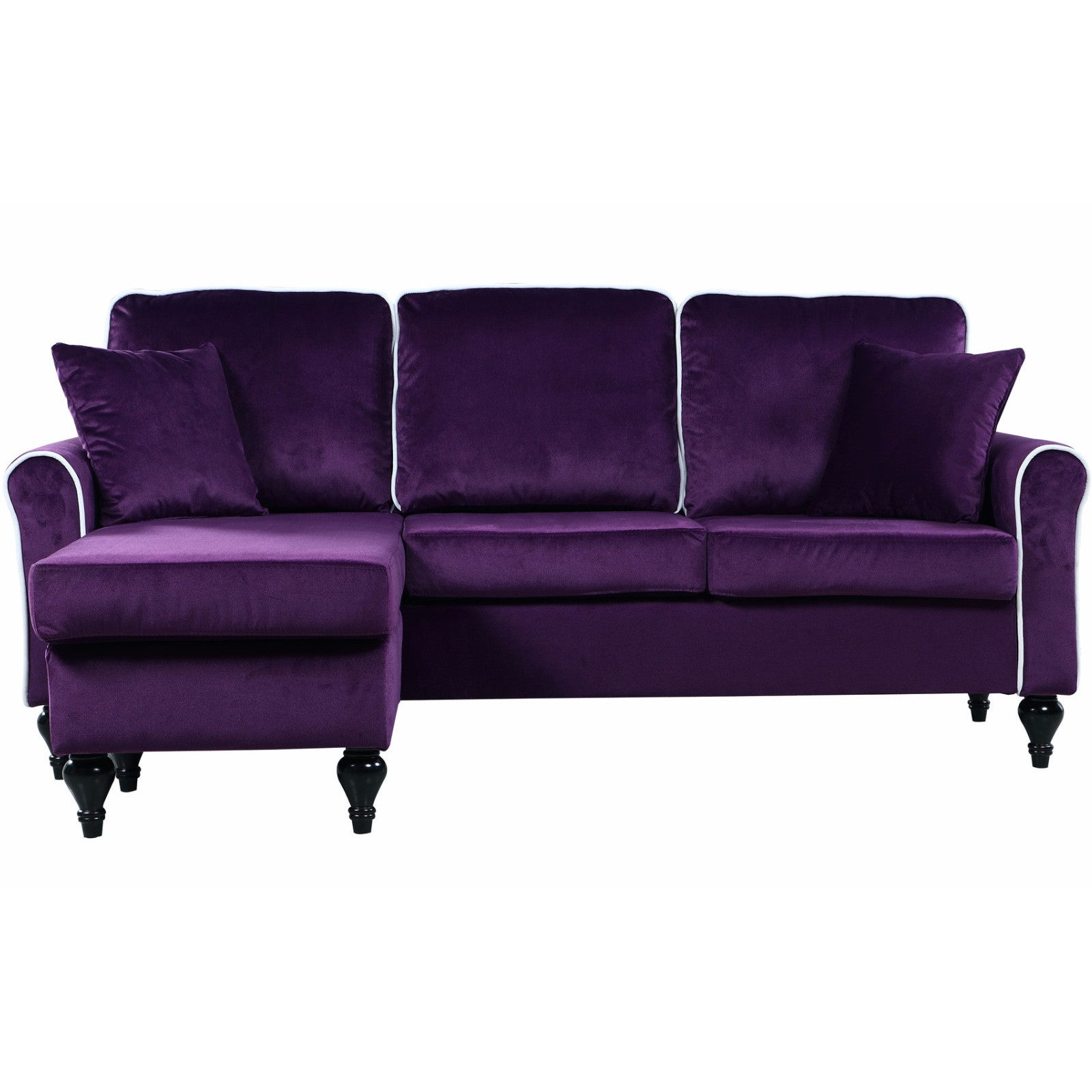 Traditional Small Space Velvet Sectional Sofa With Reversible Chaise   Free  Shipping Today   Overstock   19911873