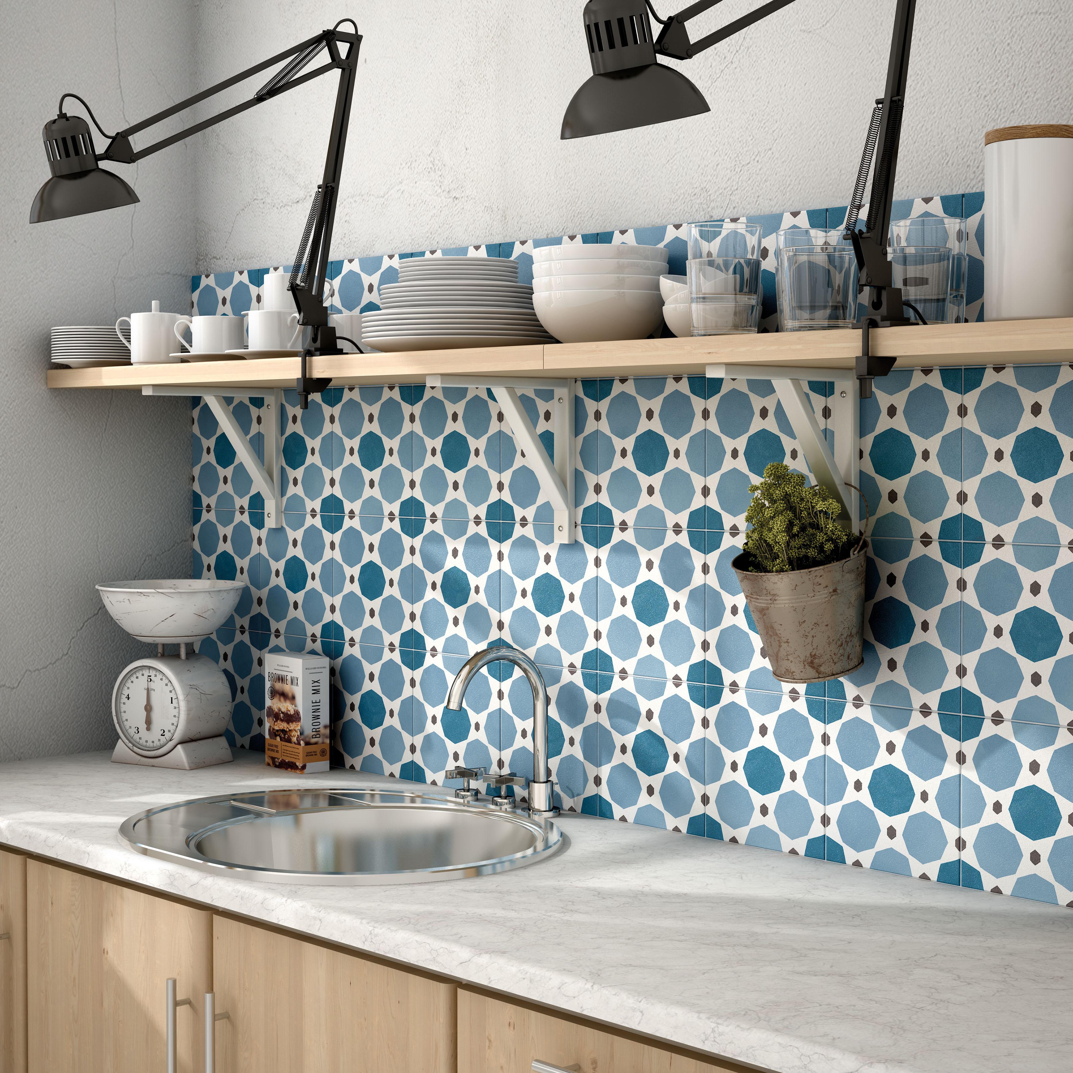 Shop SomerTile 7.875x7.875-inch Piccola Colours Sapphire Porcelain ...