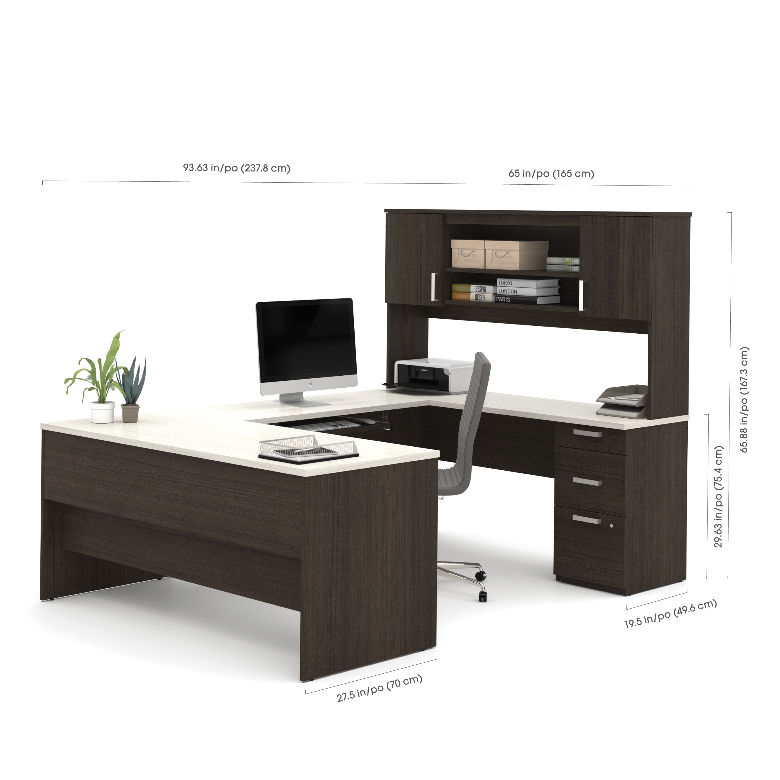 Bestar Ridgeley U-shaped Desk - Free Shipping Today - Overstock.com -  19912293