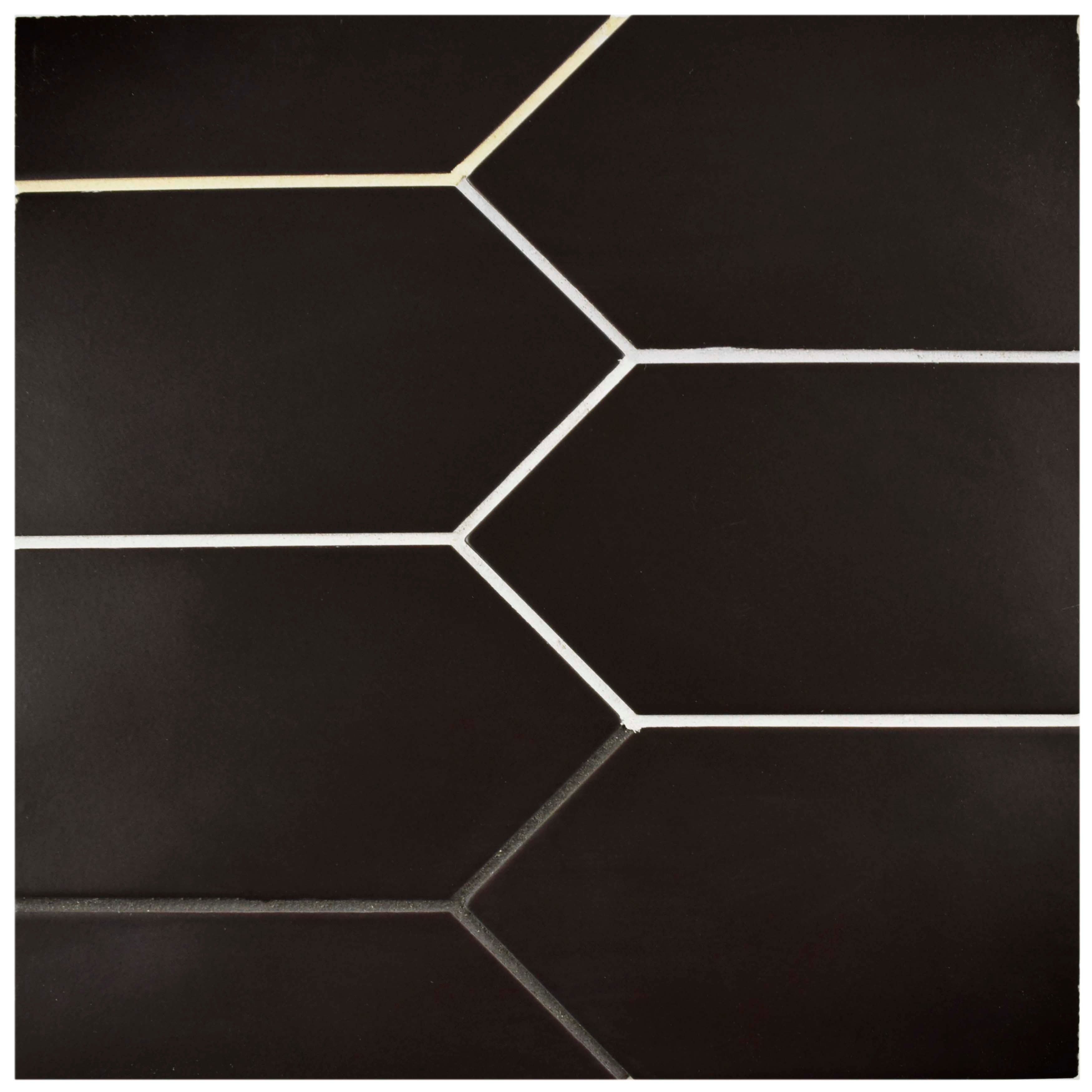 Shop SomerTile 4x11.75-inch Cometa Black Porcelain Floor and Wall ...