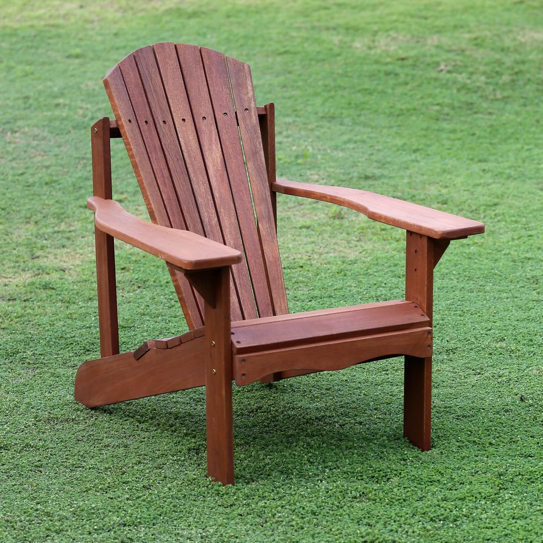 Shop Furinno Tioman Hardwood Adirondack Patio Chair   Free Shipping Today    Overstock.com   13192569