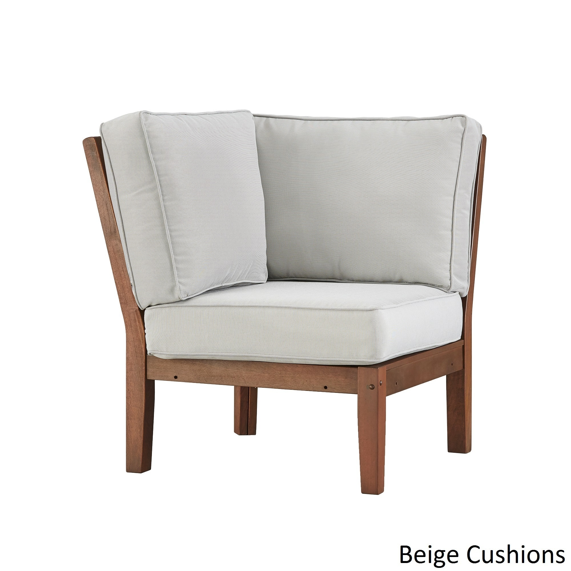 Genial Shop Yasawa Modern Brown Outdoor Cushioned Sectional Wood Corner Chair By  INSPIRE Q Oasis   On Sale   Free Shipping Today   Overstock.com   13192595