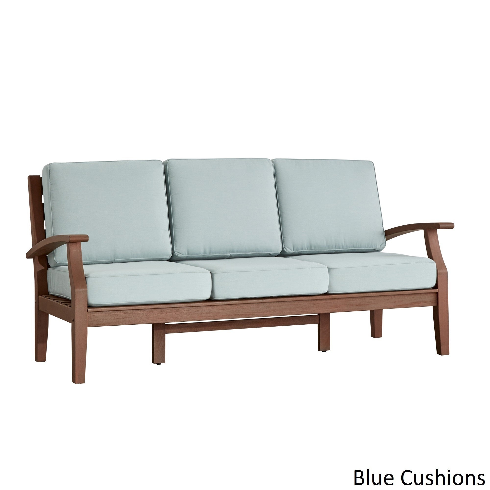 Shop Yasawa Brown Modern Outdoor Cushioned Wood Sofa INSPIRE Q Oasis   On  Sale   Free Shipping Today   Overstock.com   13192869