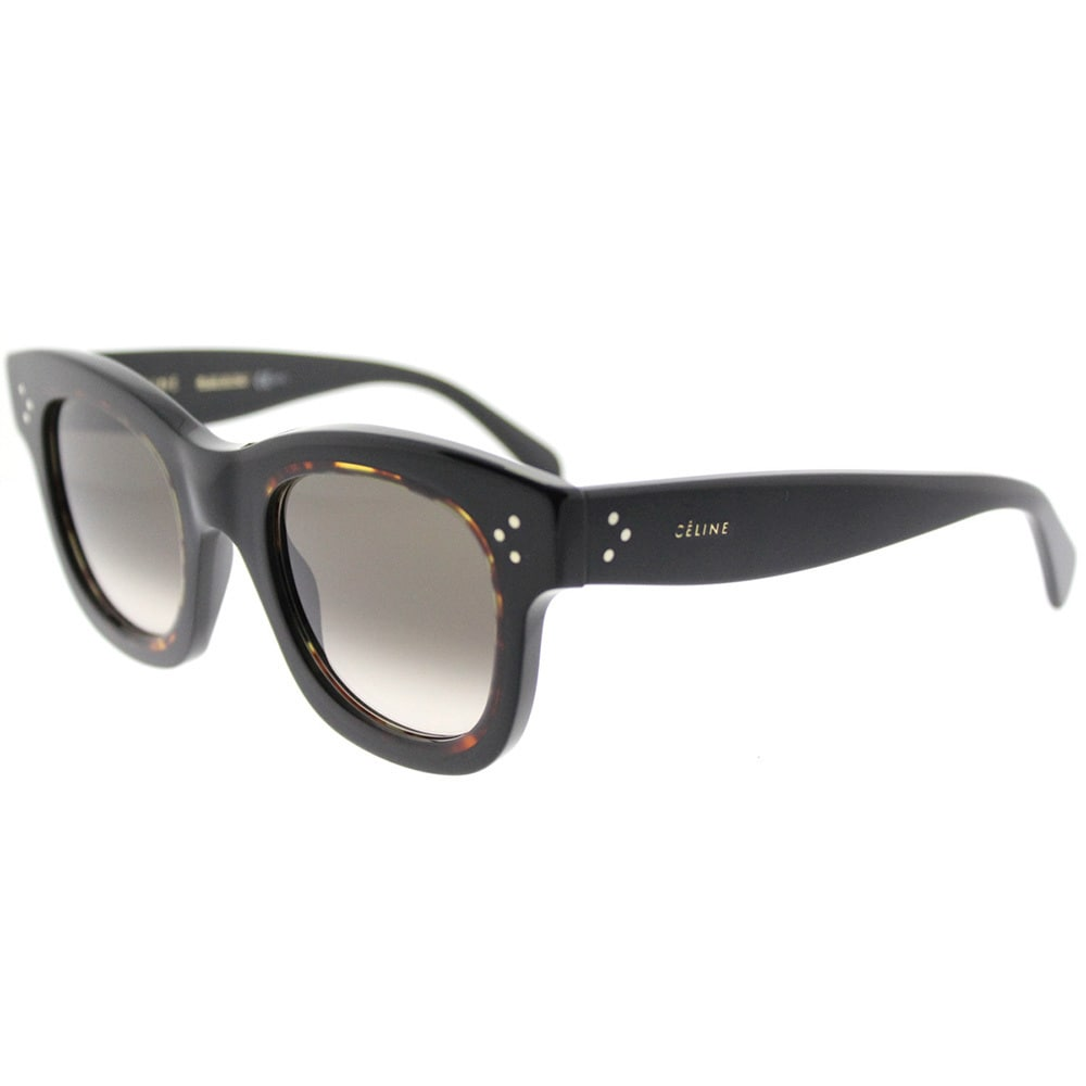a31e88d4465c Shop Celine Helen Black Havana Square Sunglasses with Grey Gradient Lenses  - Ships To Canada - Overstock - 13208192