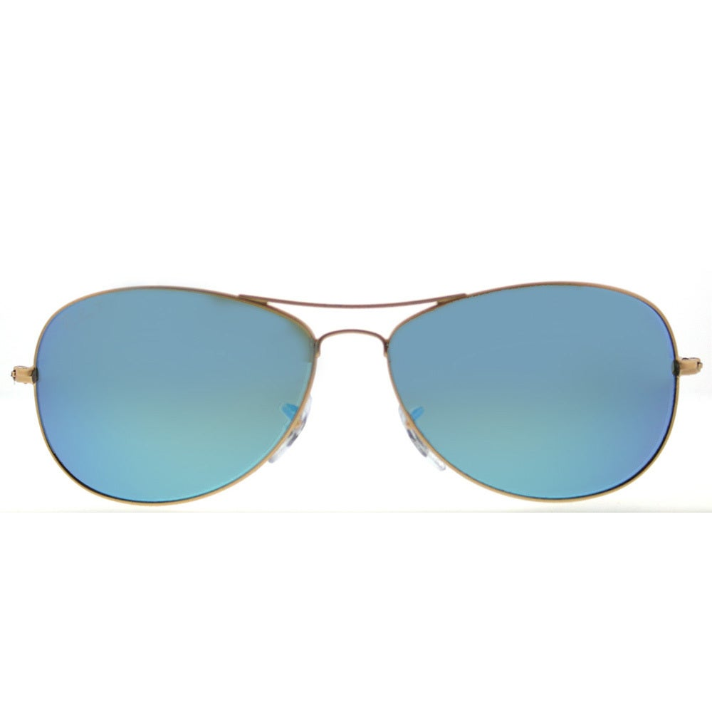57b87ee2c0f Shop Ray-Ban RB 3562 112 A1 Chromance Collection Matte Gold Metal Blue  Mirrored Chromance Polarized Lens Aviator Sunglasses - Free Shipping Today  ...