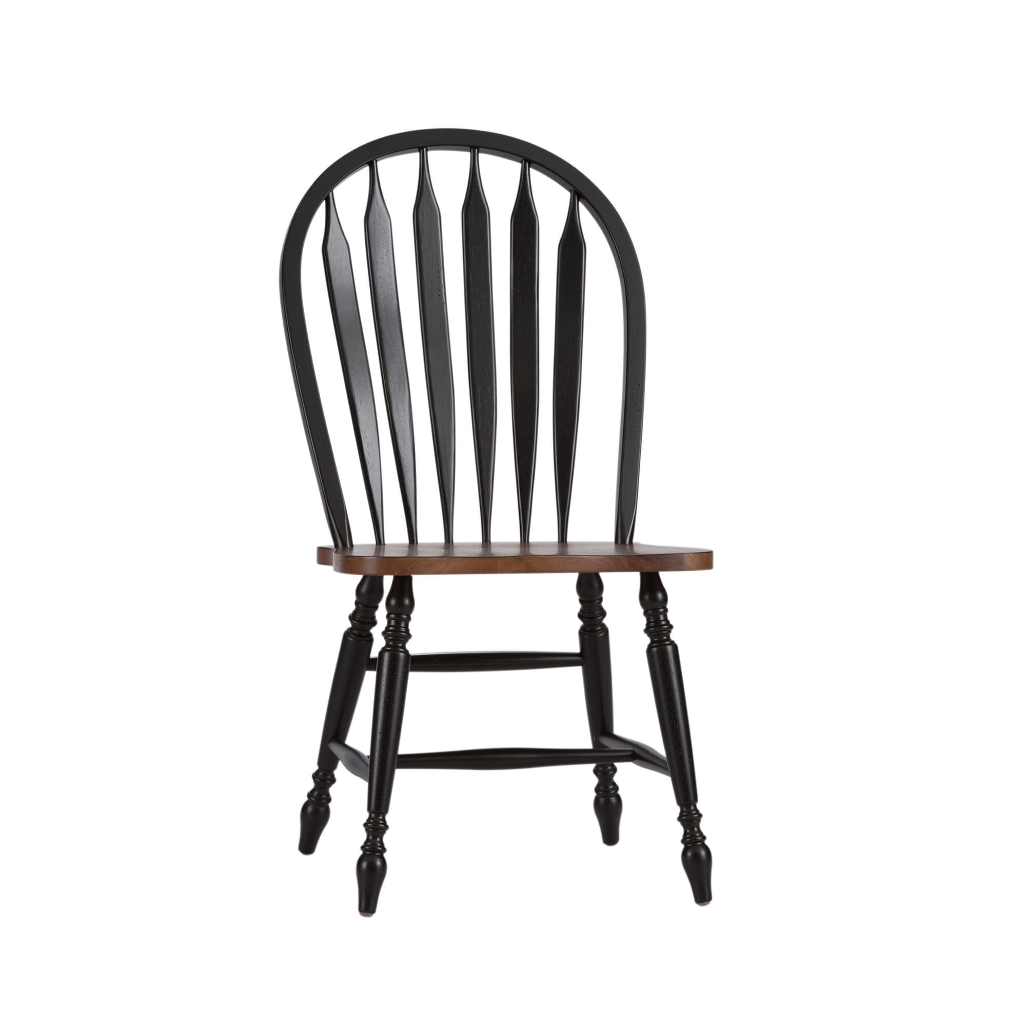 Shop havenside home palmer black and bronze windsor dining chair free shipping today overstock com 20689876