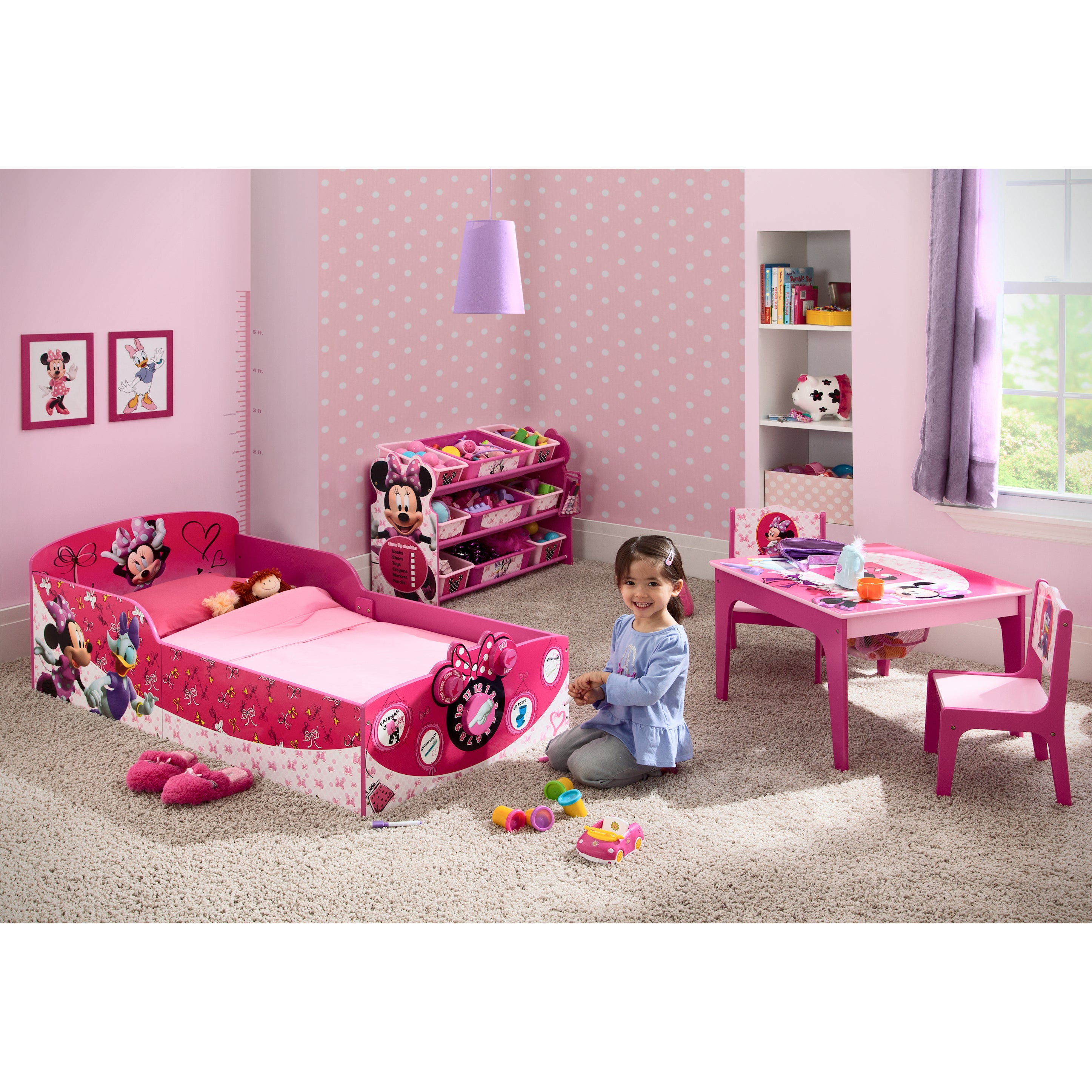 Shop Disney Minnie Mouse Interactive Wood Toddler Bed - Free ...