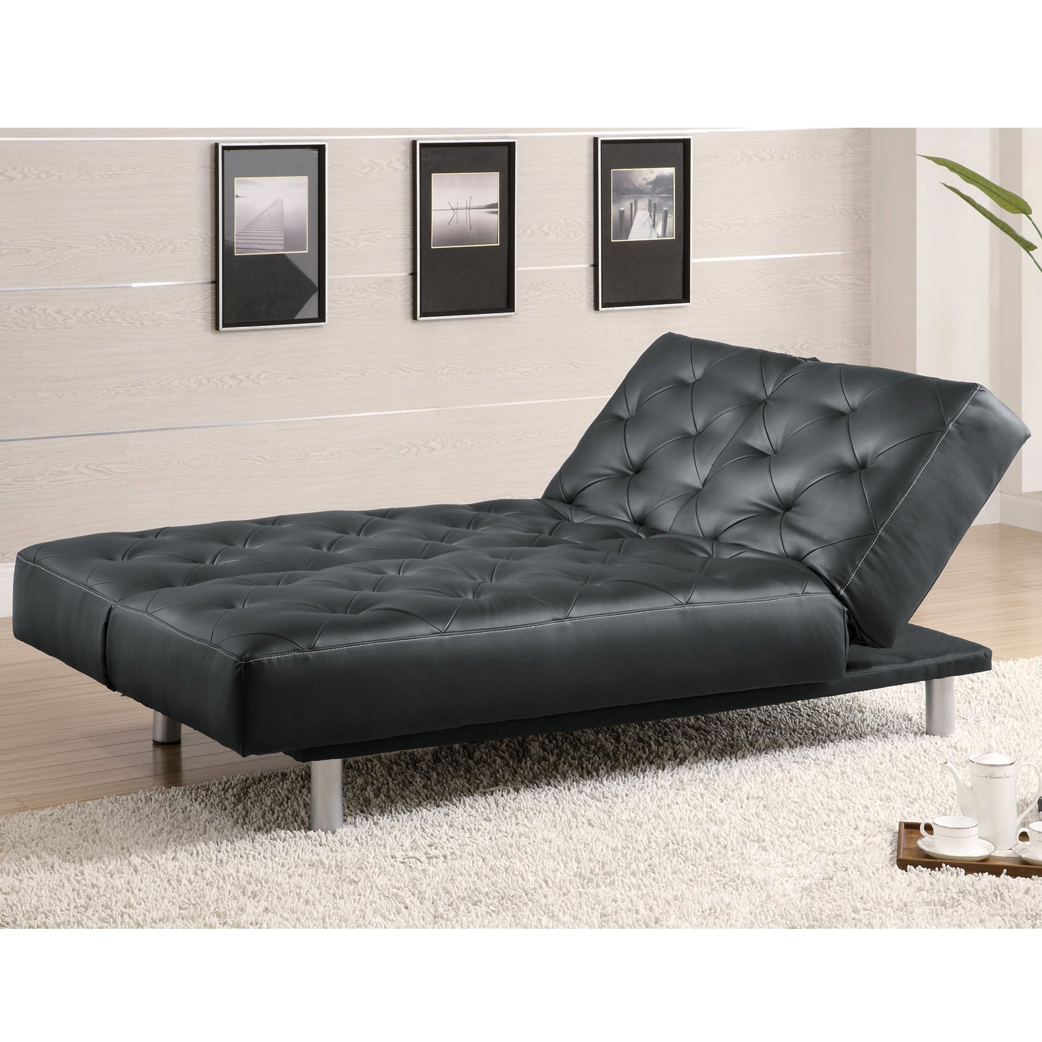 Devine Tufted Design Convertible Chaise Sofa Bed Free Shipping Today 13210341