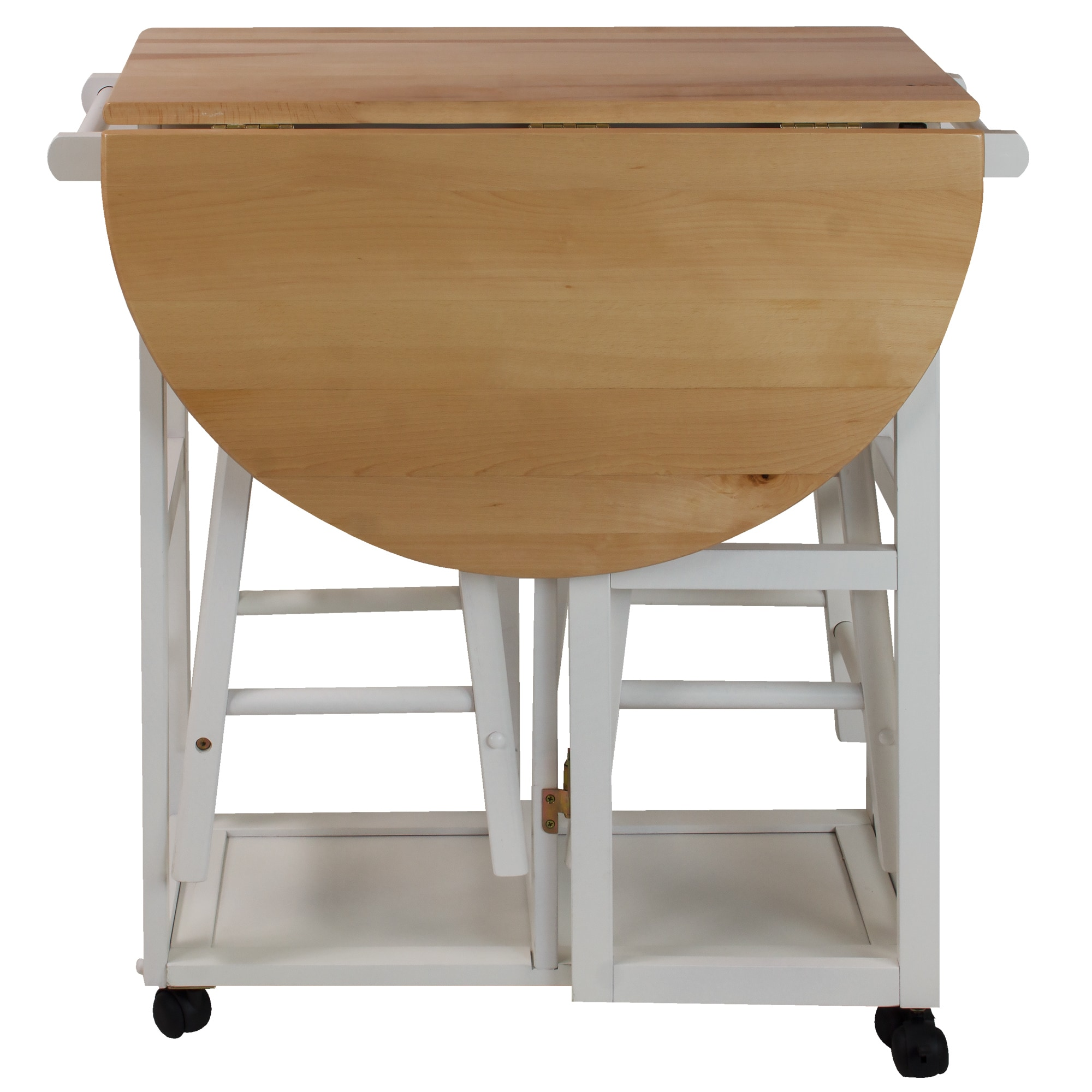 Shop Arts and Crafts Breakfast Cart with Drop-leaf Table - Free ...