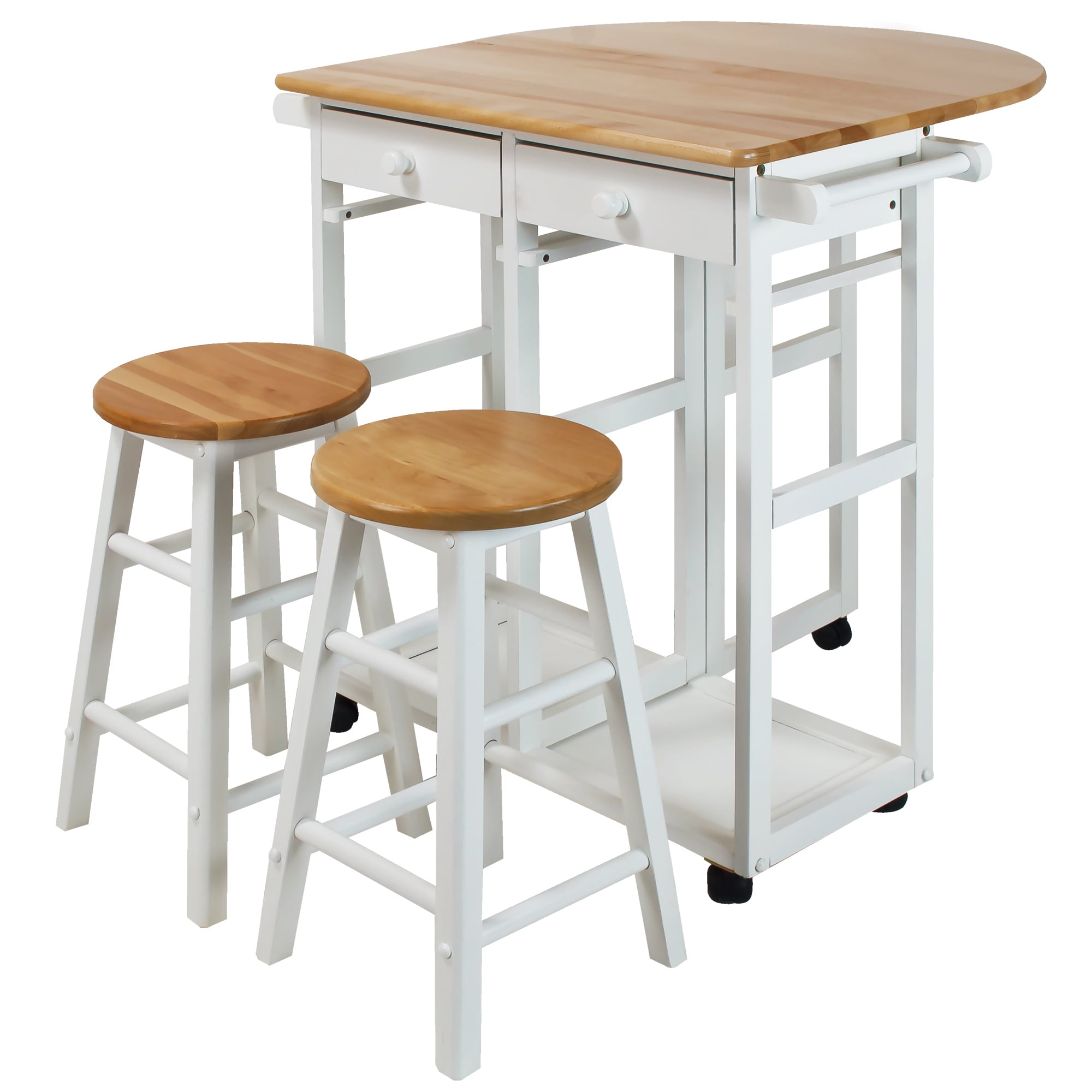 Captivating Arts And Crafts Breakfast Cart With Drop Leaf Table   Free Shipping Today    Overstock.com   19930999