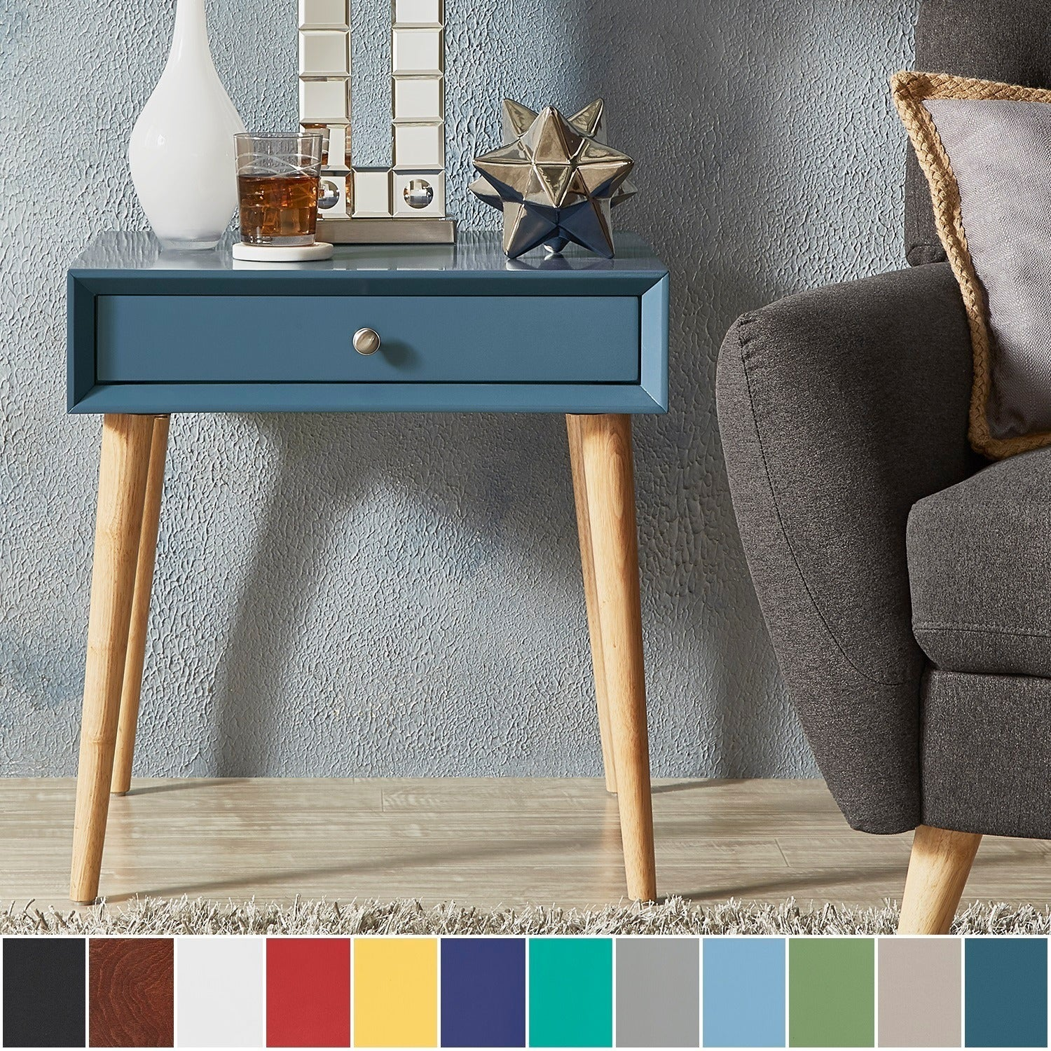Marin Danish Modern 1-drawer Accent End Table iNSPIRE Q Modern - Free  Shipping Today - Overstock.com - 19931922