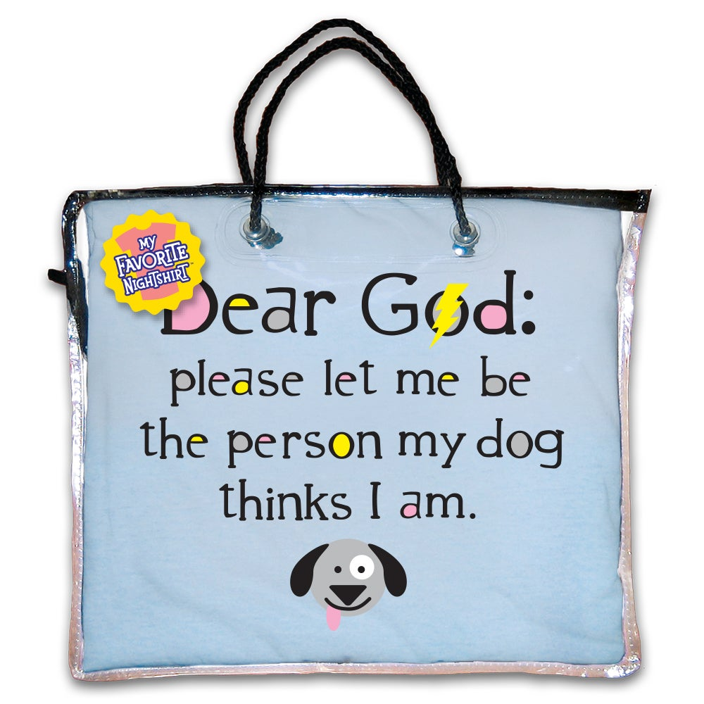 8c04345b53 Shop  Dear God  Please Let Me Be The Person My Dog Thinks I Am  Blue Cotton  Nightshirt - Free Shipping On Orders Over  45 - Overstock - 13215008