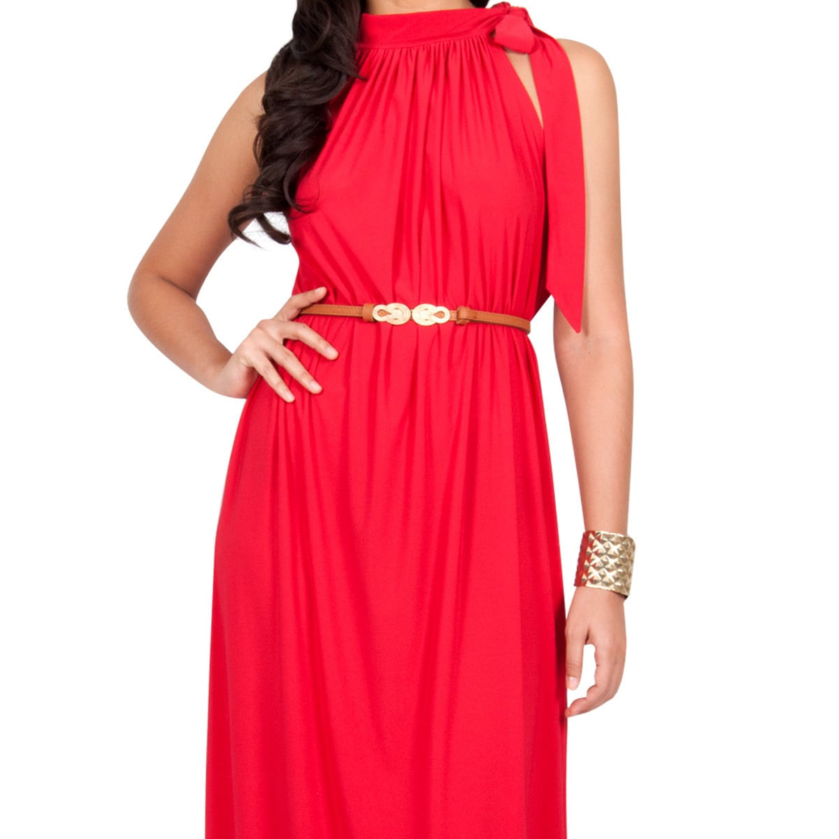 KOH KOH Womens Long Prom Formal Evening Bridesmaid Belted Summer ...