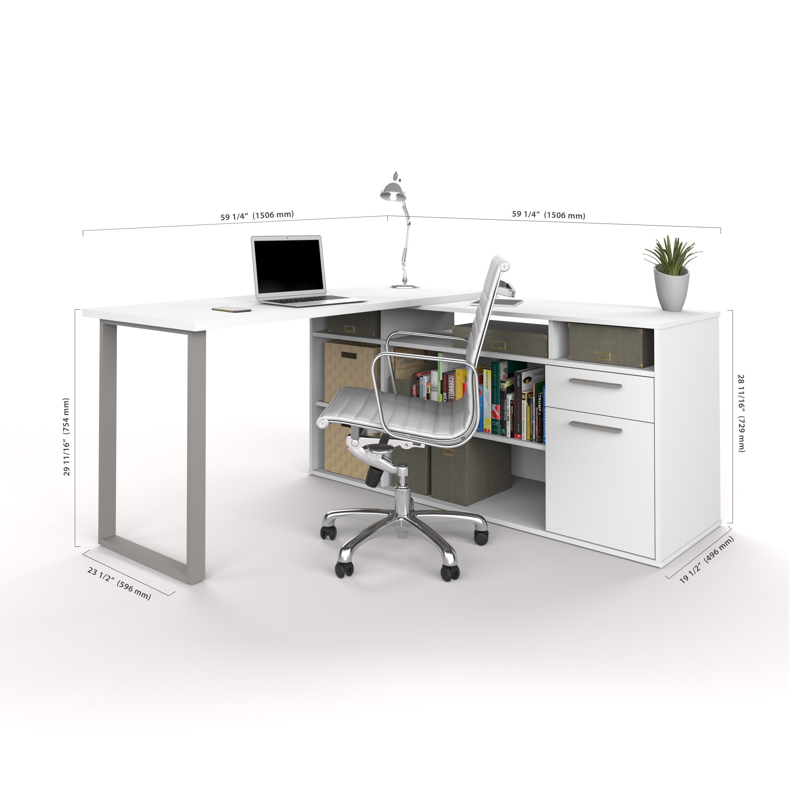 Bestar Solay L Shaped Desk Free Shipping Today Overstock