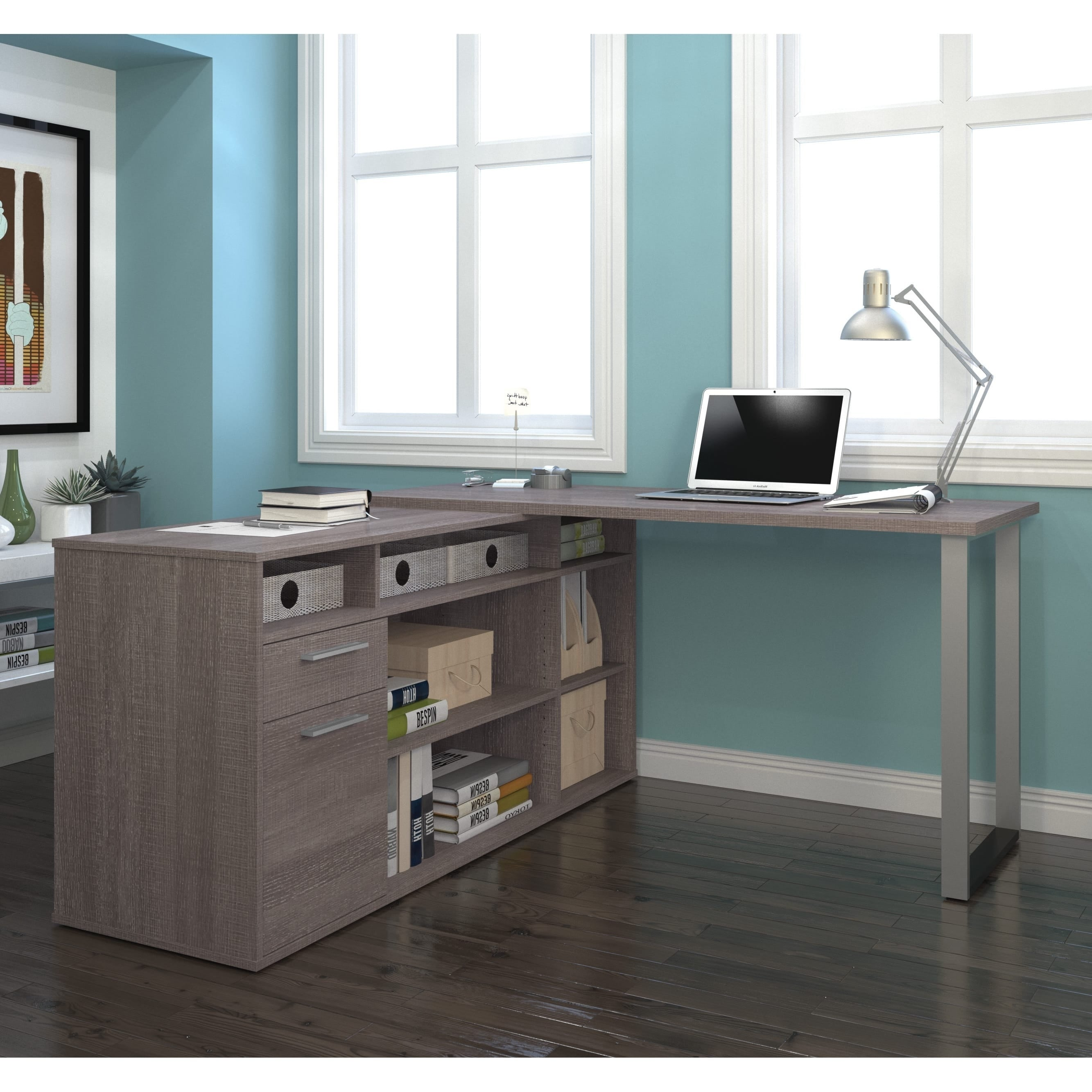 furniture plus shaped for office shelves and home with wooden white drawer cabinet cabinets small printer desk file spaces filing corner l ideas desks storage