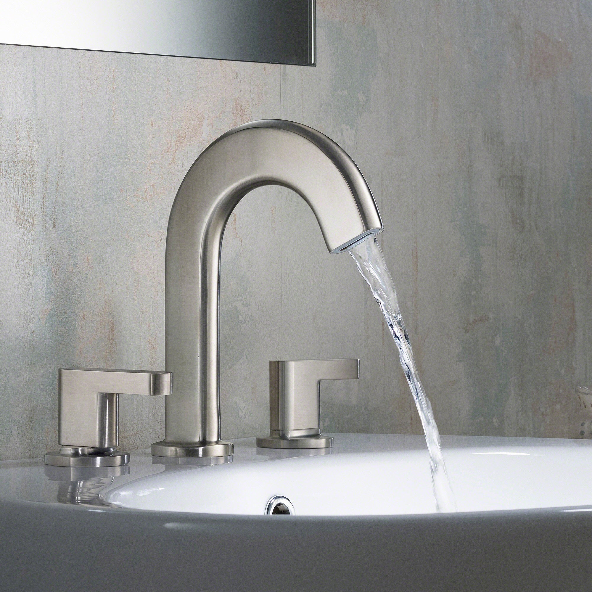 KRAUS Ino™ Two Handle 8 Inch Widespread Bathroom Faucet with Custom ...